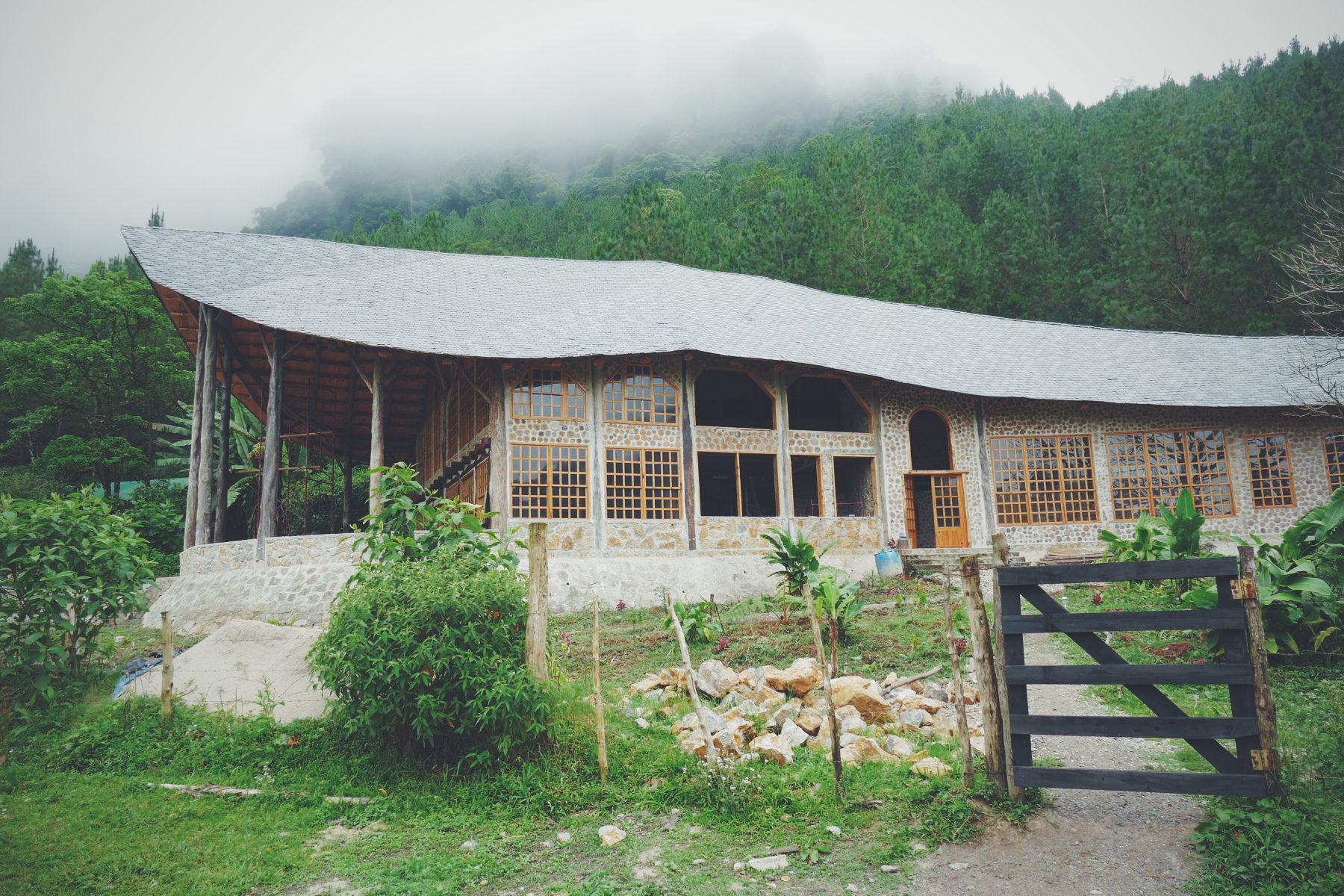 A new building at Rob and Tara's farm in Guatemala is designed to host students in ecology and agriculture Noah Strycker