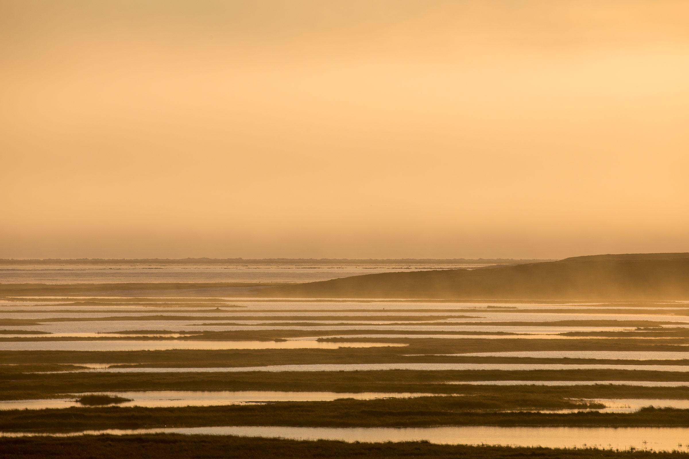 Midnight sun on the Arctic Refuge coastal plain. Lisa Hupp/USFWS