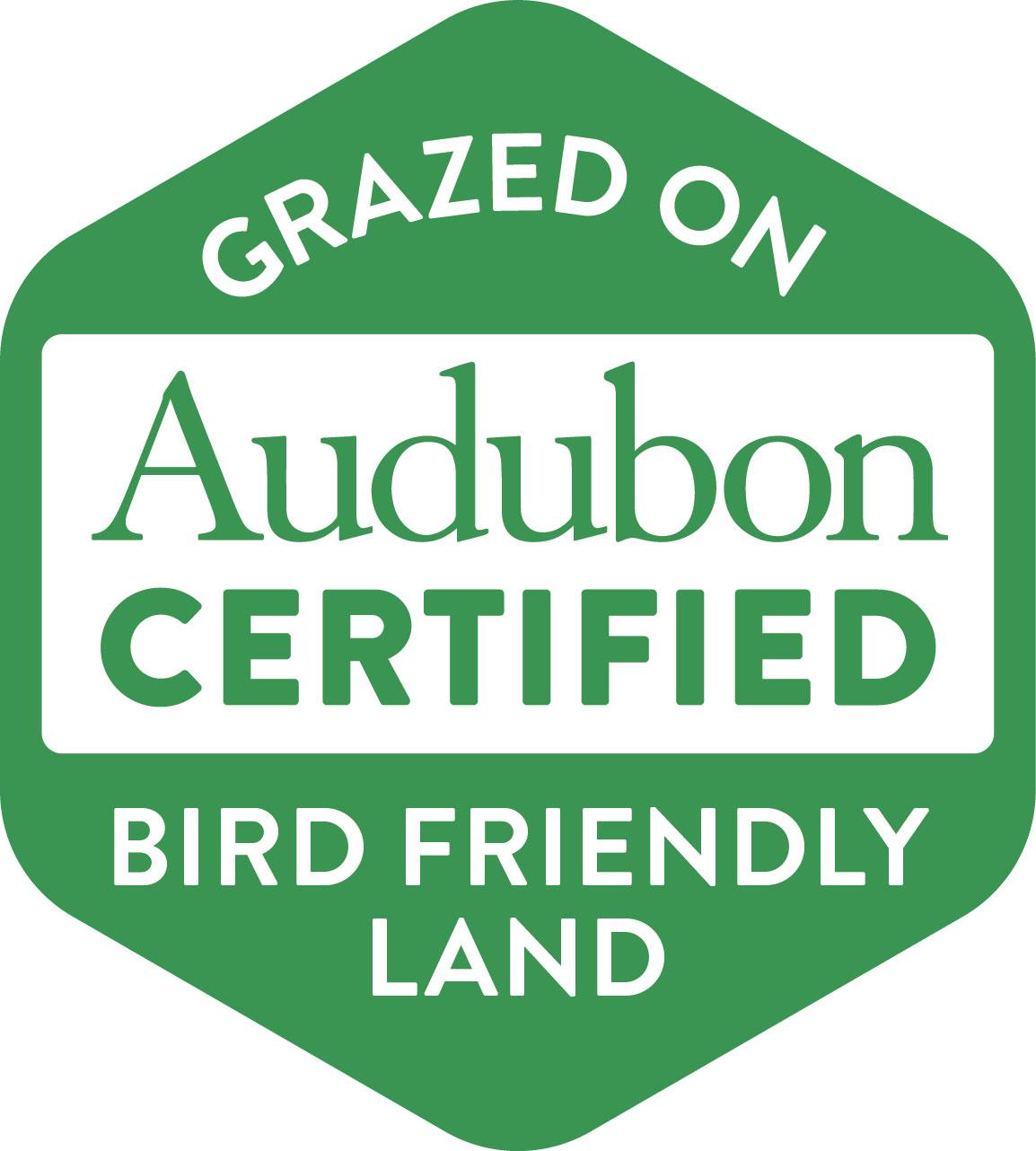 Audubon label on Western beef.