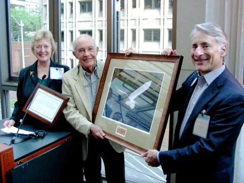 From left: Nancy and Bob Dean; David Yarnold,  Audubon CEO