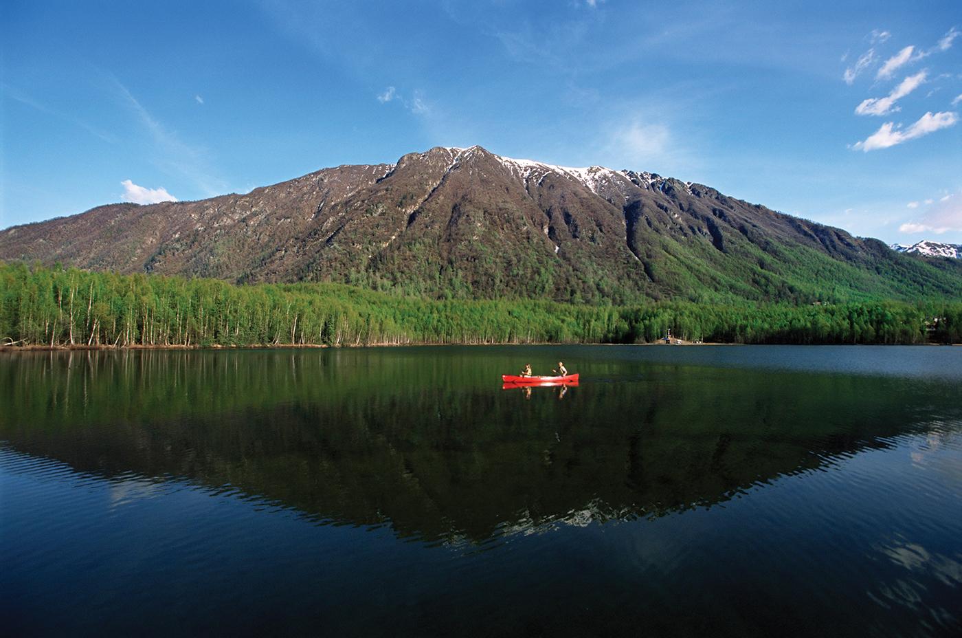 Mirror Lake, Chugach Mountains, Anchorage, Alaska. Alison Wright/Aurora Photos