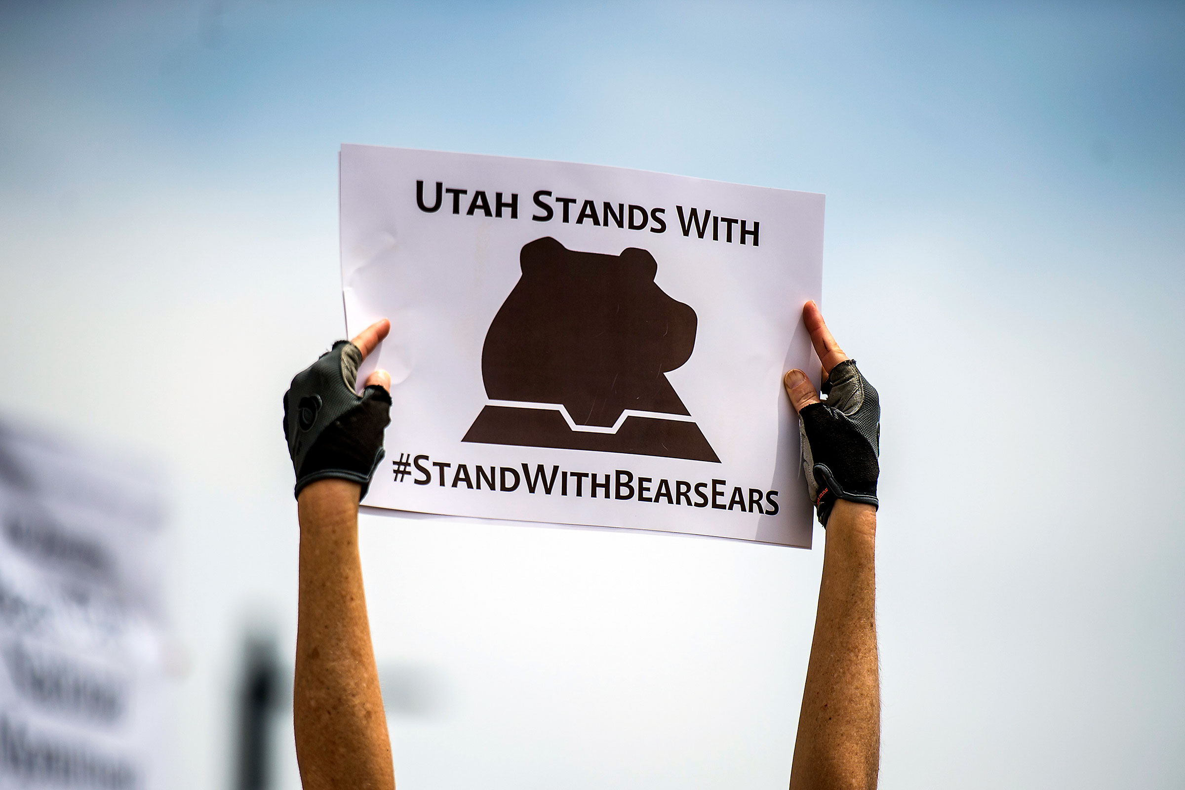 Hundreds of people gathered during the Monumental Rally for Bears Ears and Grand Staircase Monuments at the Utah State Capitol in May 2017. Chris Detrick/The Salt Lake Tribune/AP