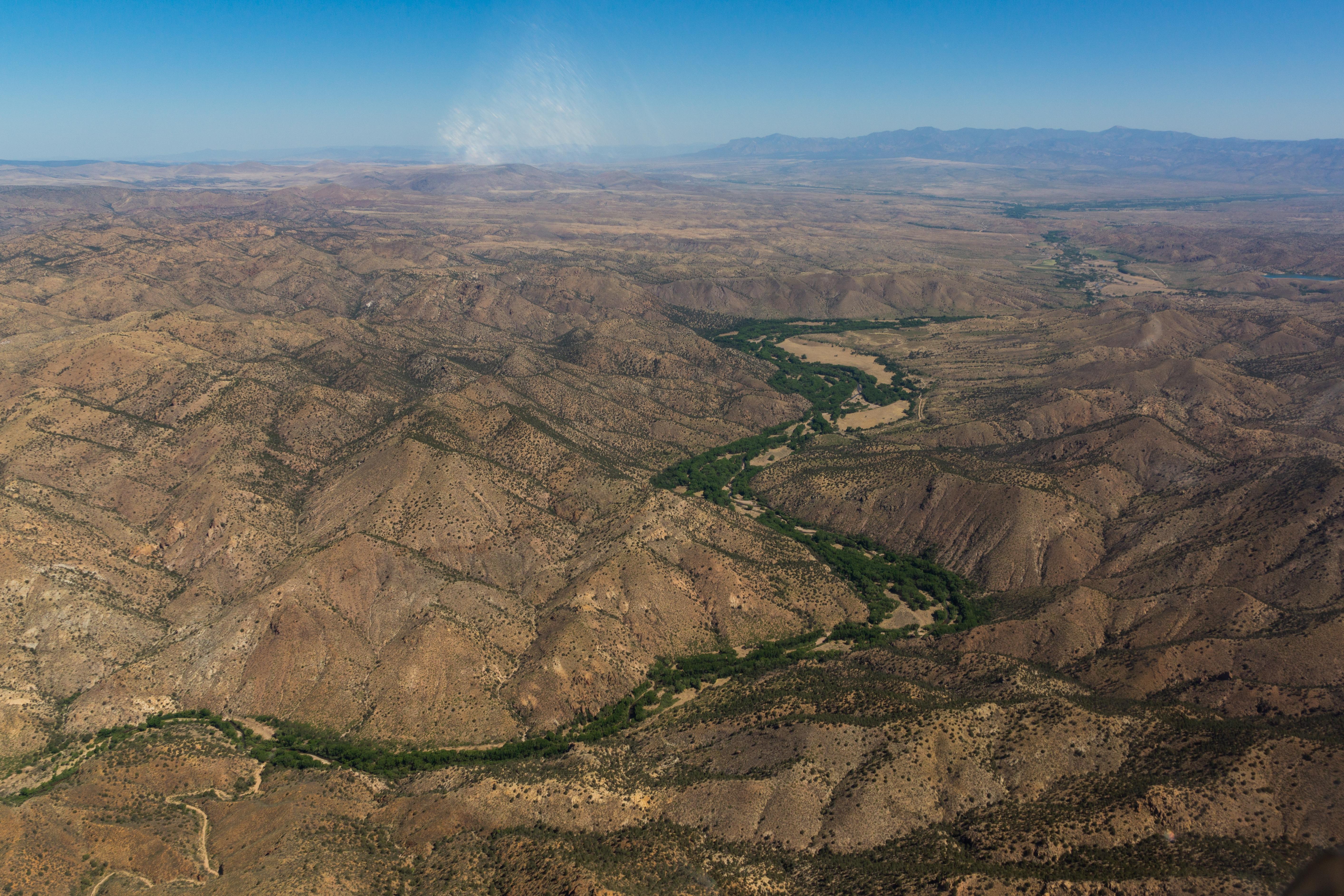 The Gila River in New Mexico. EcoFlight