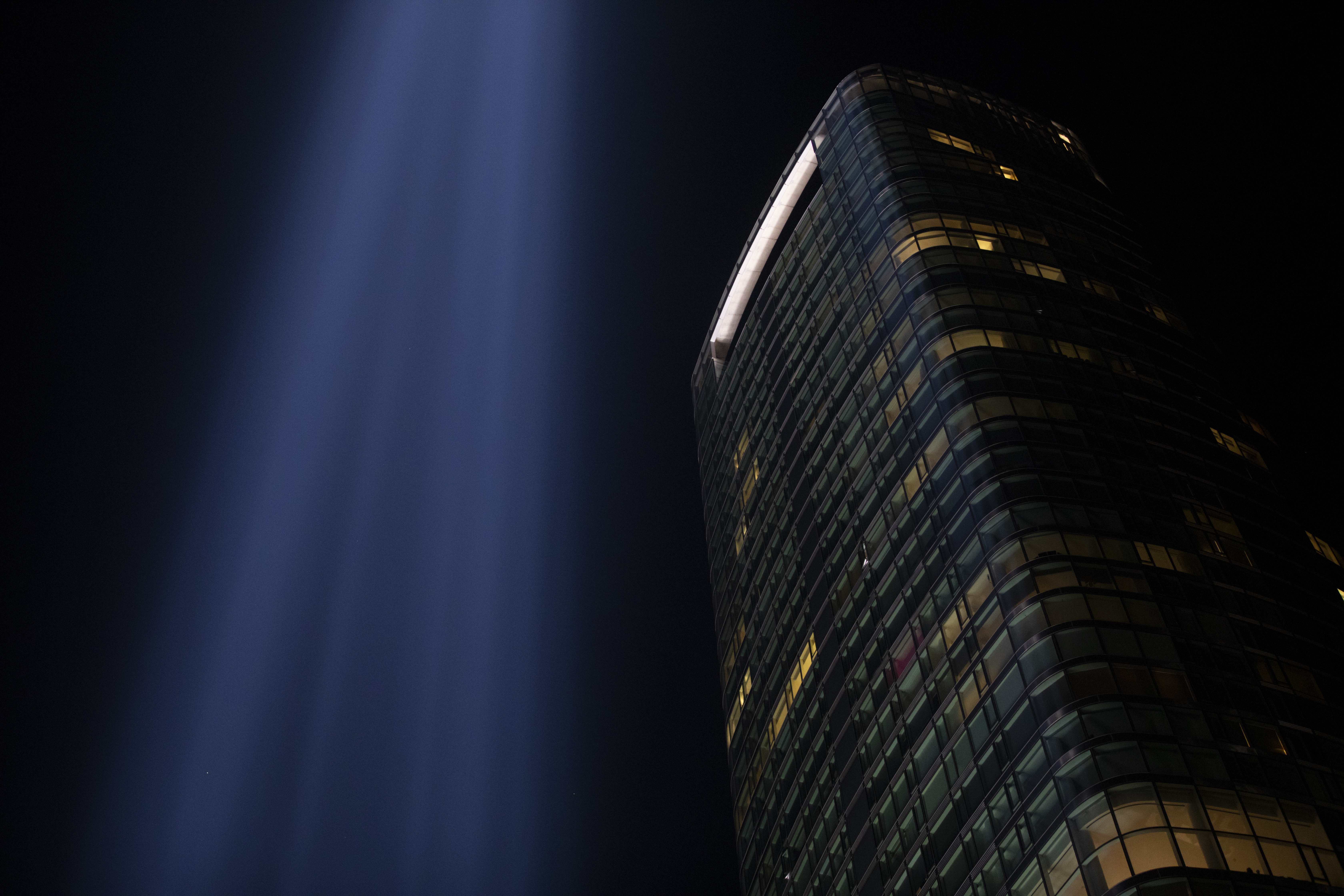 9/11 Tribute in Light Memorial  in New York City Luke Franke