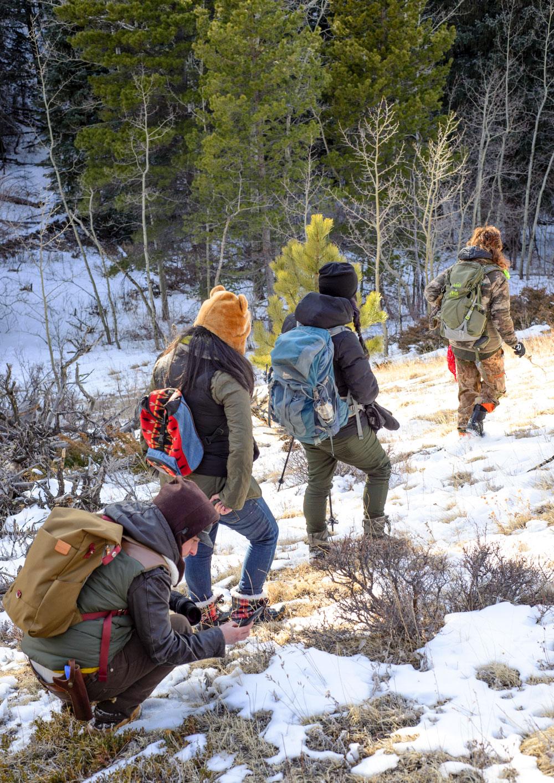 Hike in the Rockies led by Queer Nature. Pınar Ateş Sinopoulos-Lloyd