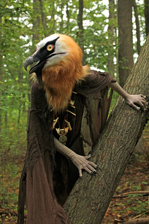 """Kleiveer"" Bearded Vulture costume by Jennifer Miller. Brian Carpenter"