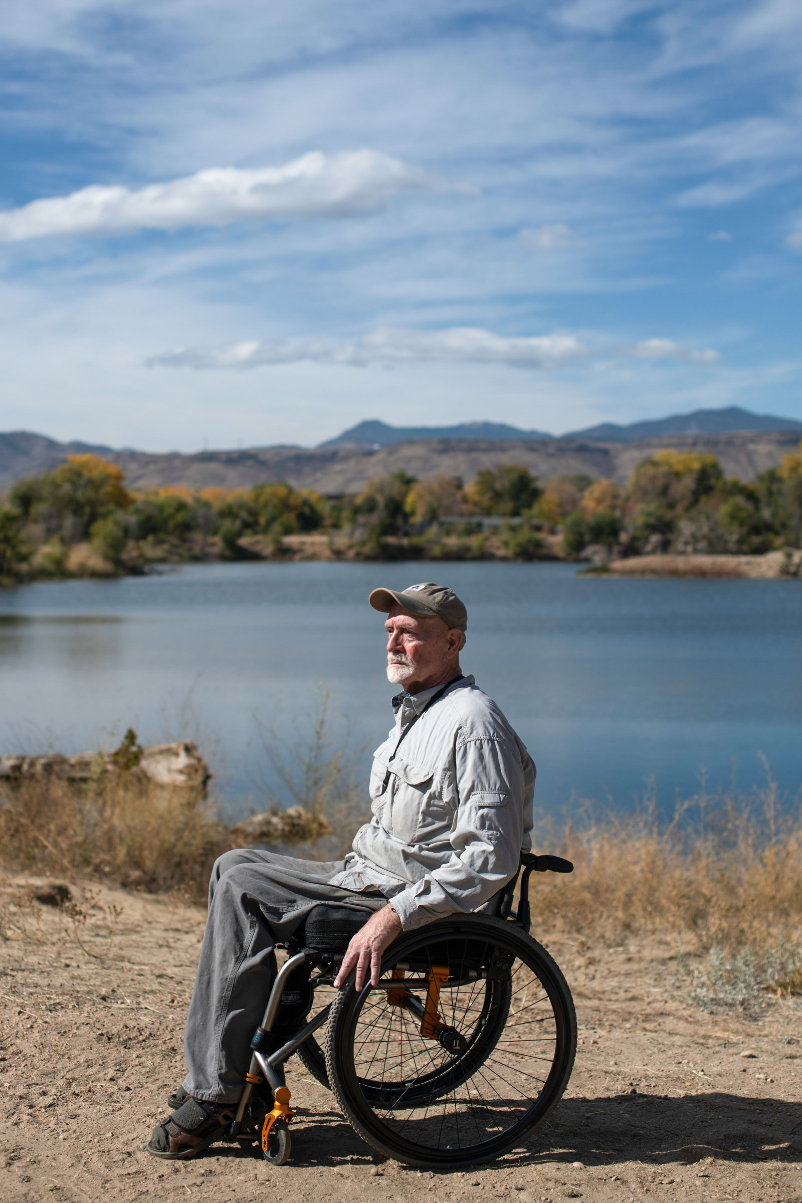 """Roark started Birding Without Barriers to help people with mobility challenges get out and enjoy nature. """"You don't have to give up the passions in your life just because you have trouble getting around,"""" he says. Rachel Woolf"""