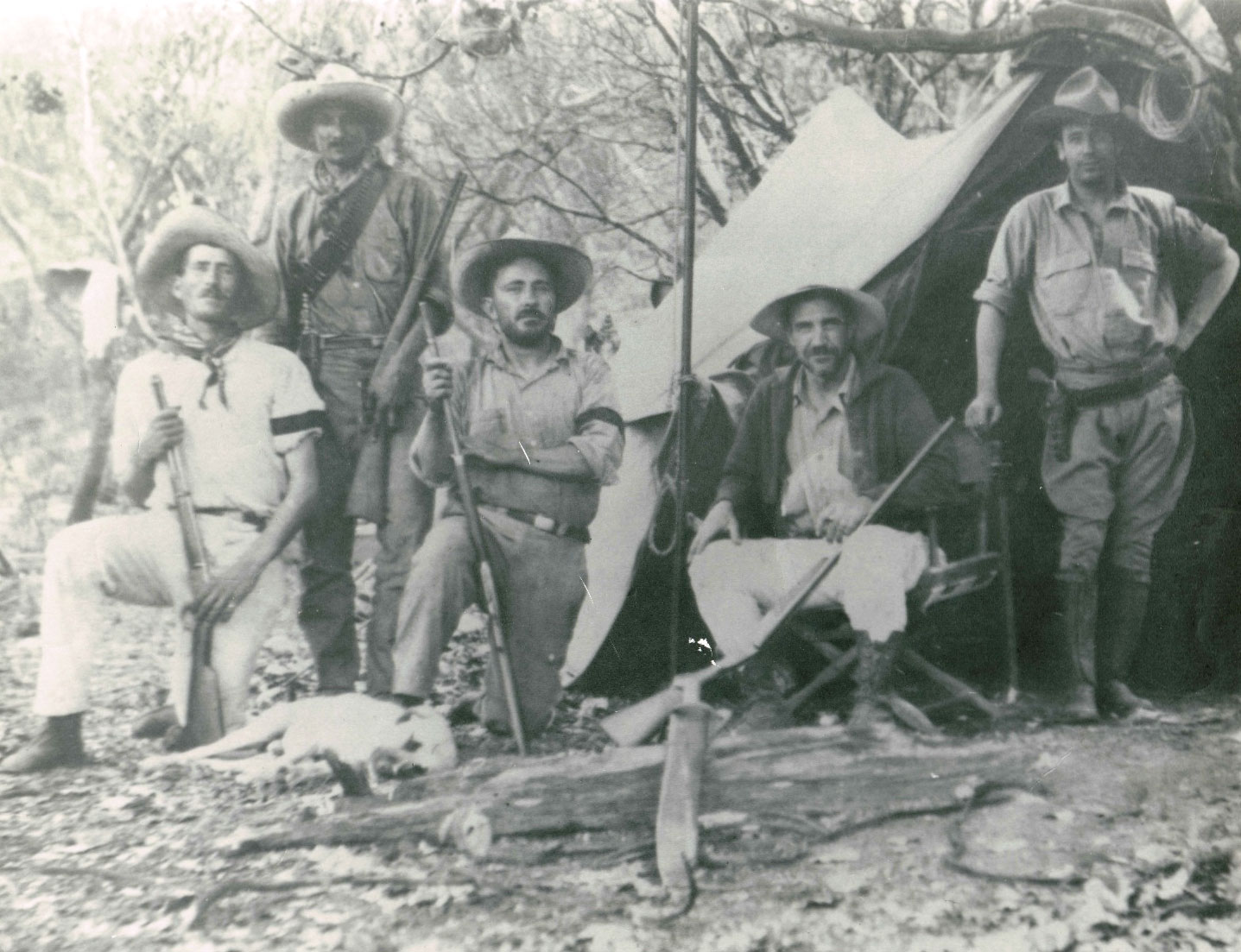 Chester Lamb (second from right) on a field trip in Baja California in the 1920s. Courtesy of the Lamb Family