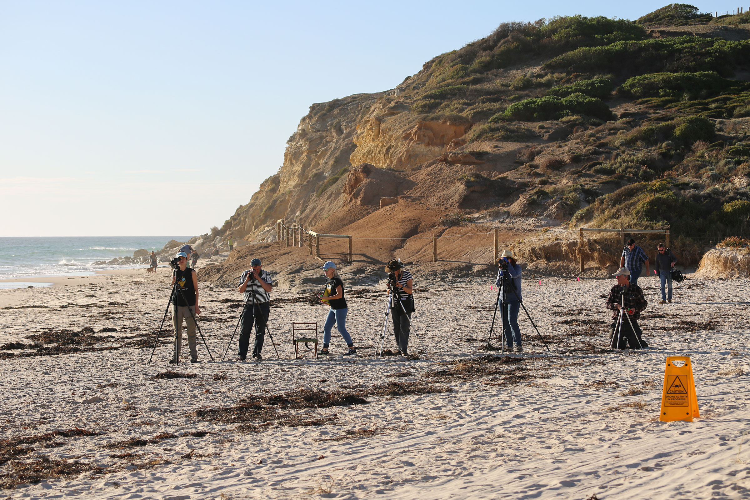 Who's better at estimating colony size: a remote-controlled drone, or these trained ecologists with spotting scopes? Jarrod Hodgson
