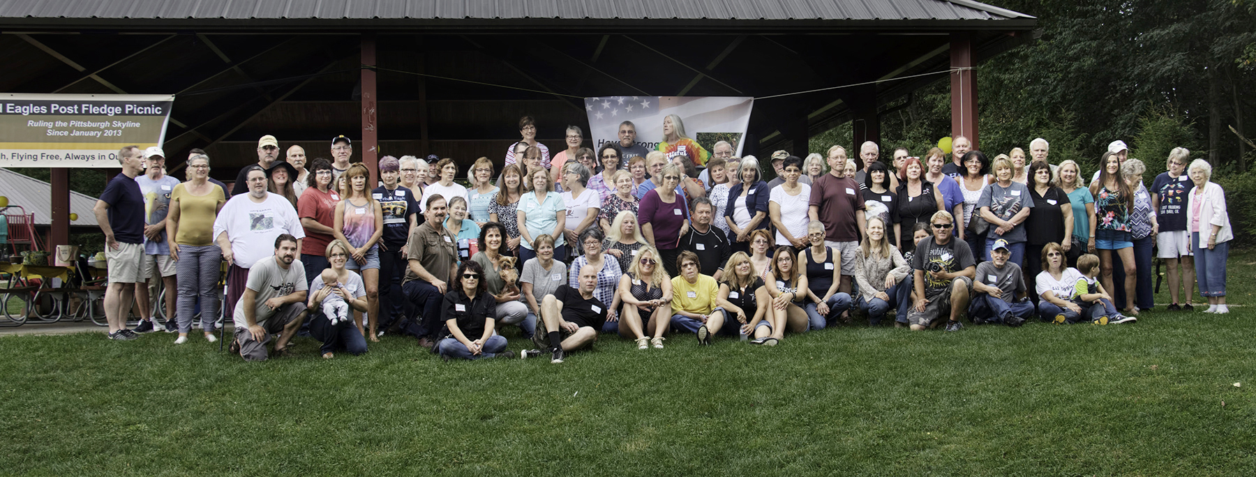 Community members of the Hays Bald Eagle Cam chat room at this year's annual picnic. Dana Nesiti