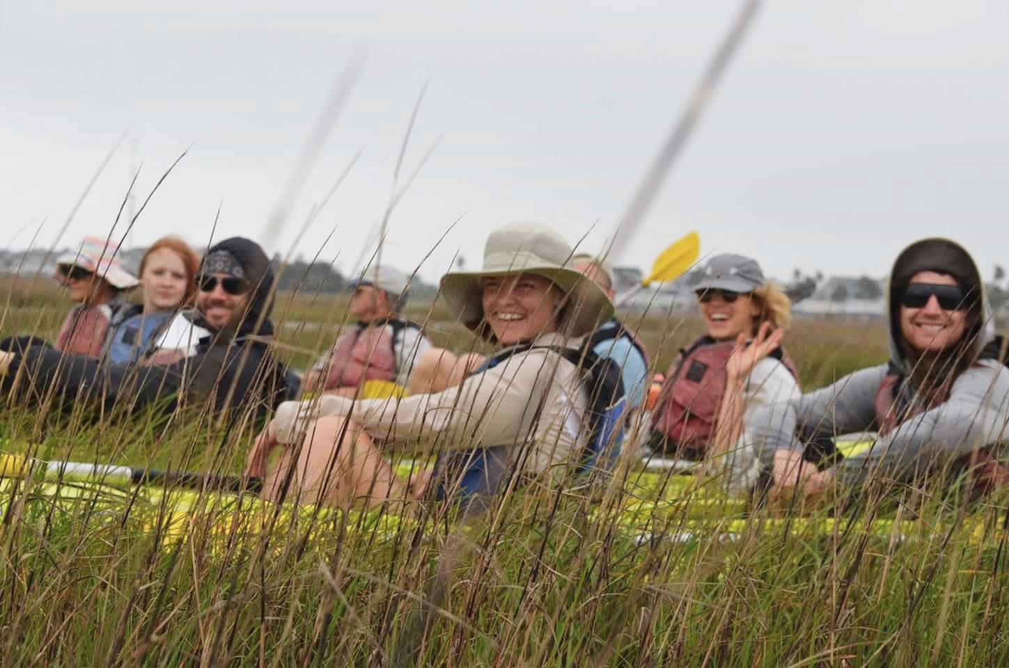 At FeatherFest, paddle through the open lagoons and marshes of Galveston Island State Park with your binoculars around your neck. Christine Sntkin