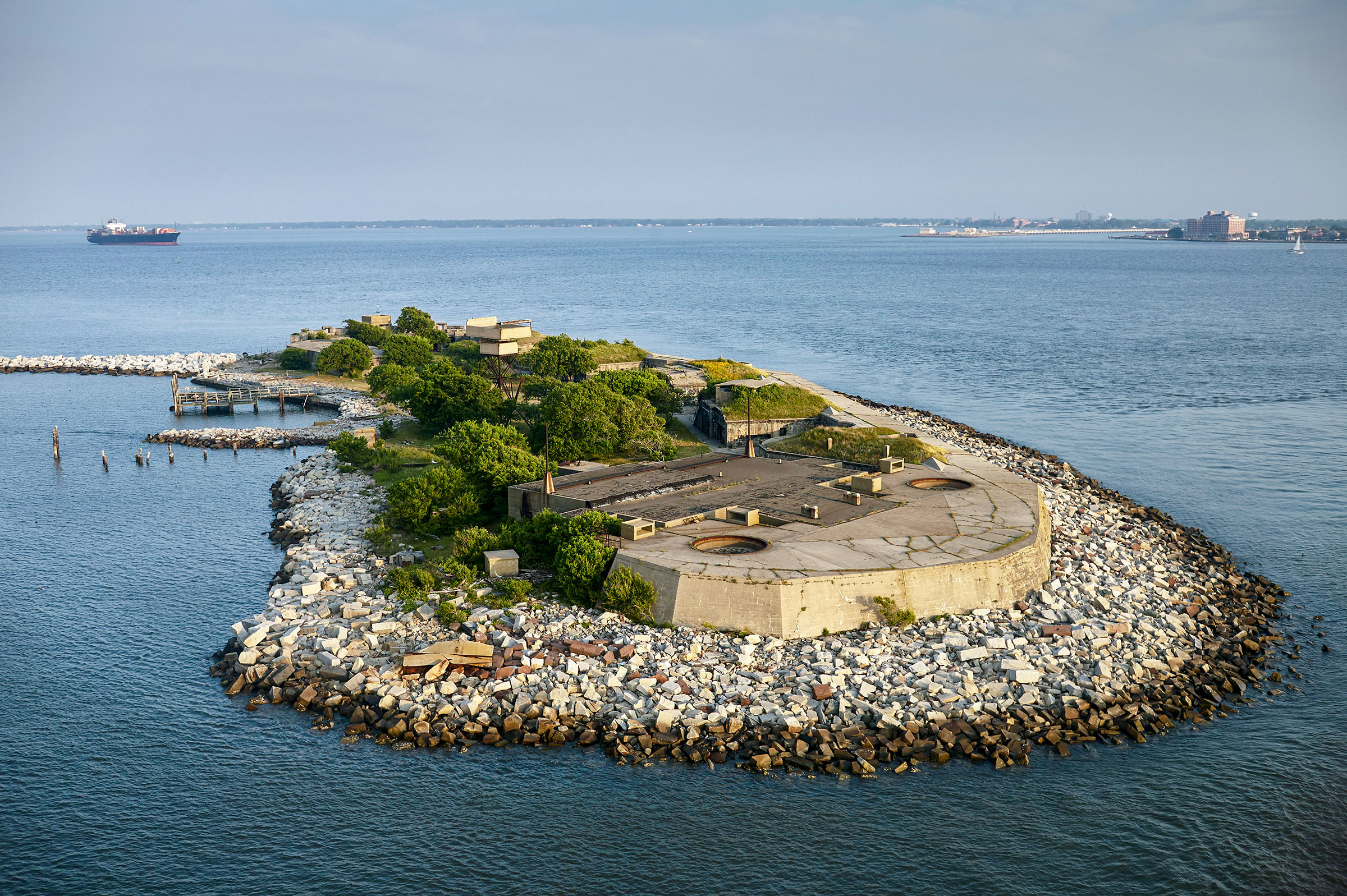 Rip Raps Island, also known as Fort Wool, will serve as a temporary nesting site for the displaced birds. Photo: Cameron Davidson/Alamy