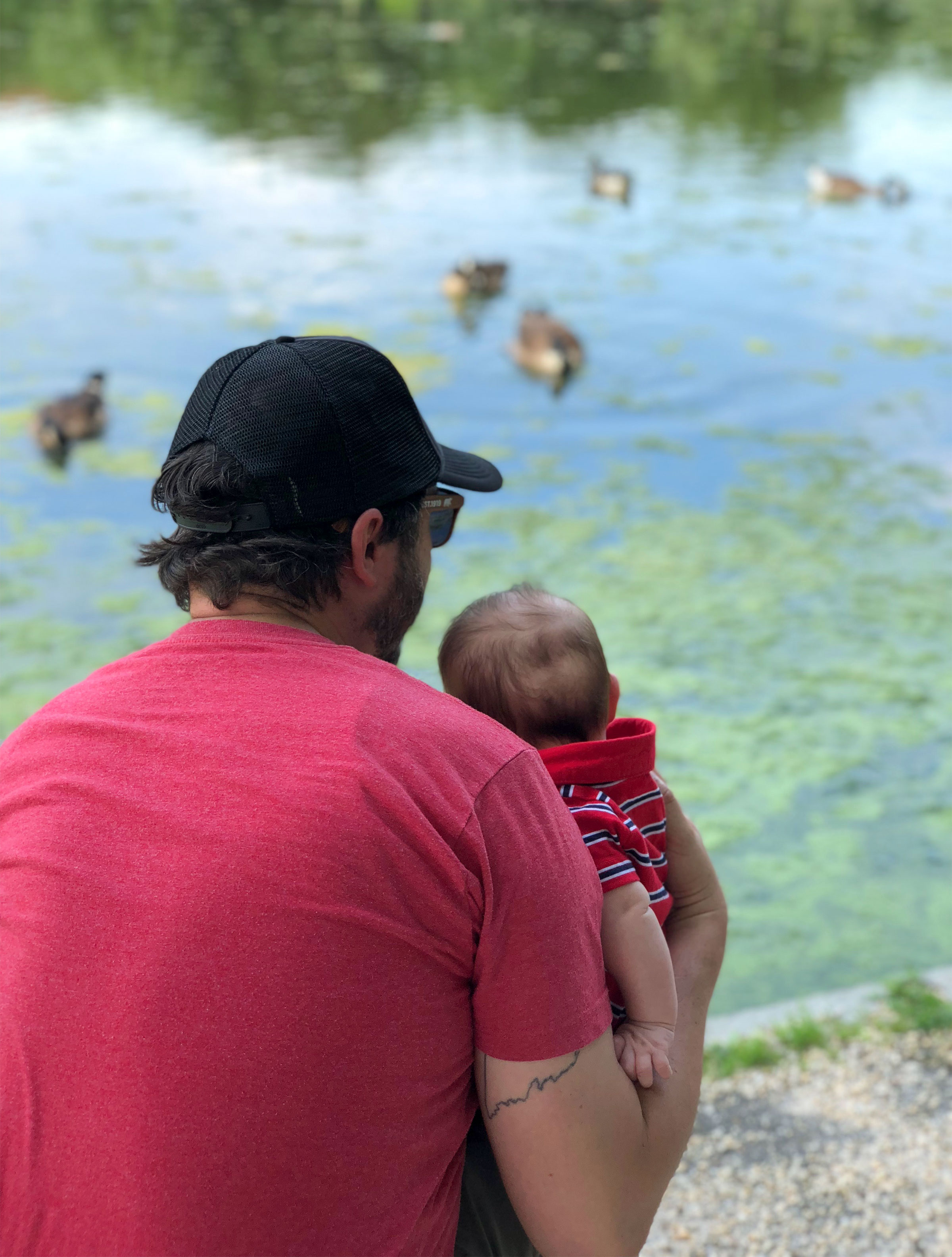 The author and his son watching Canada Geese. Courtesy of Nicholas Lund