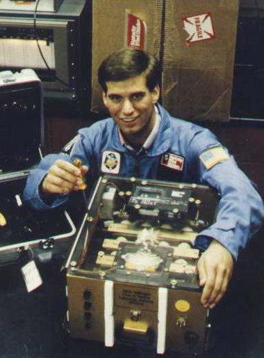 John Vellinger with his soon-to-be-spacebound eggs. Courtesy of John Vellinger