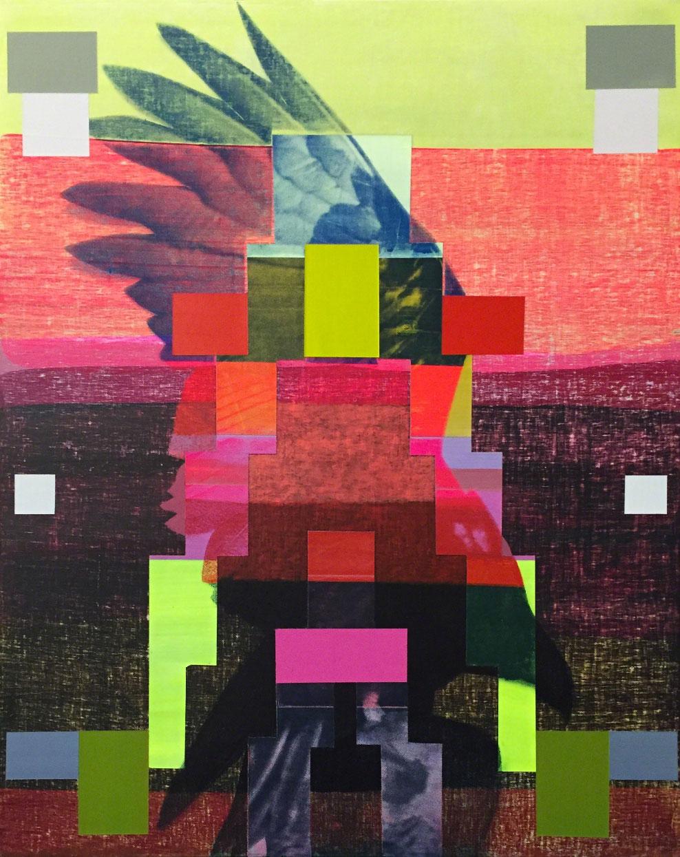 Broad-winged Hawk. Painting: Kristen Schiele/101/EXHIBIT