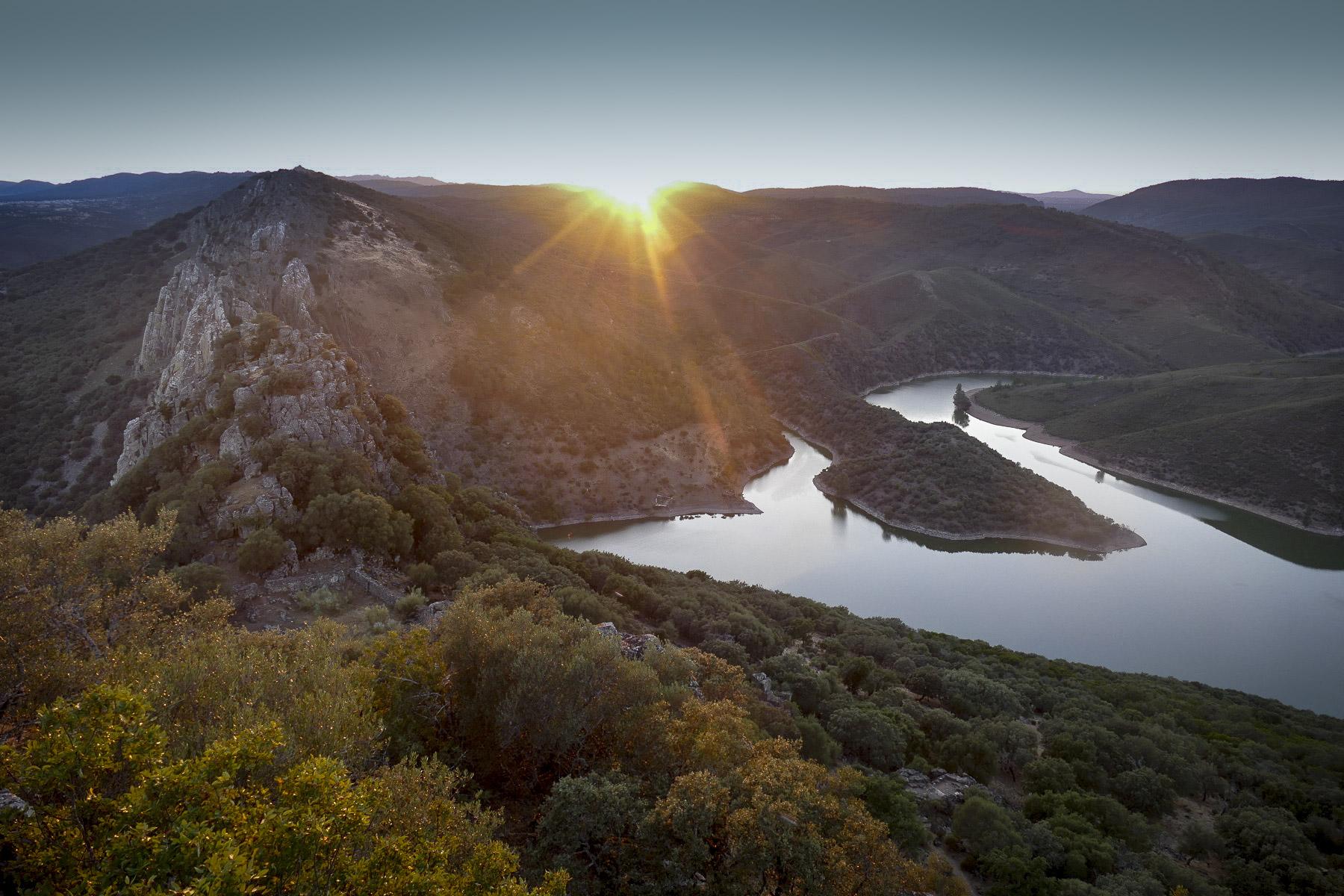 Noah's view of the sunset at Monfrague National Park. Noah Strycker
