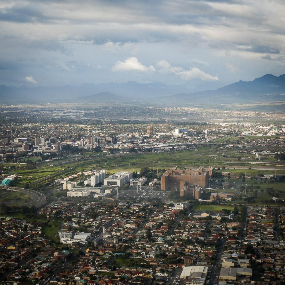 Noah's view of Cape Town just before touchdown. Noah Strycker