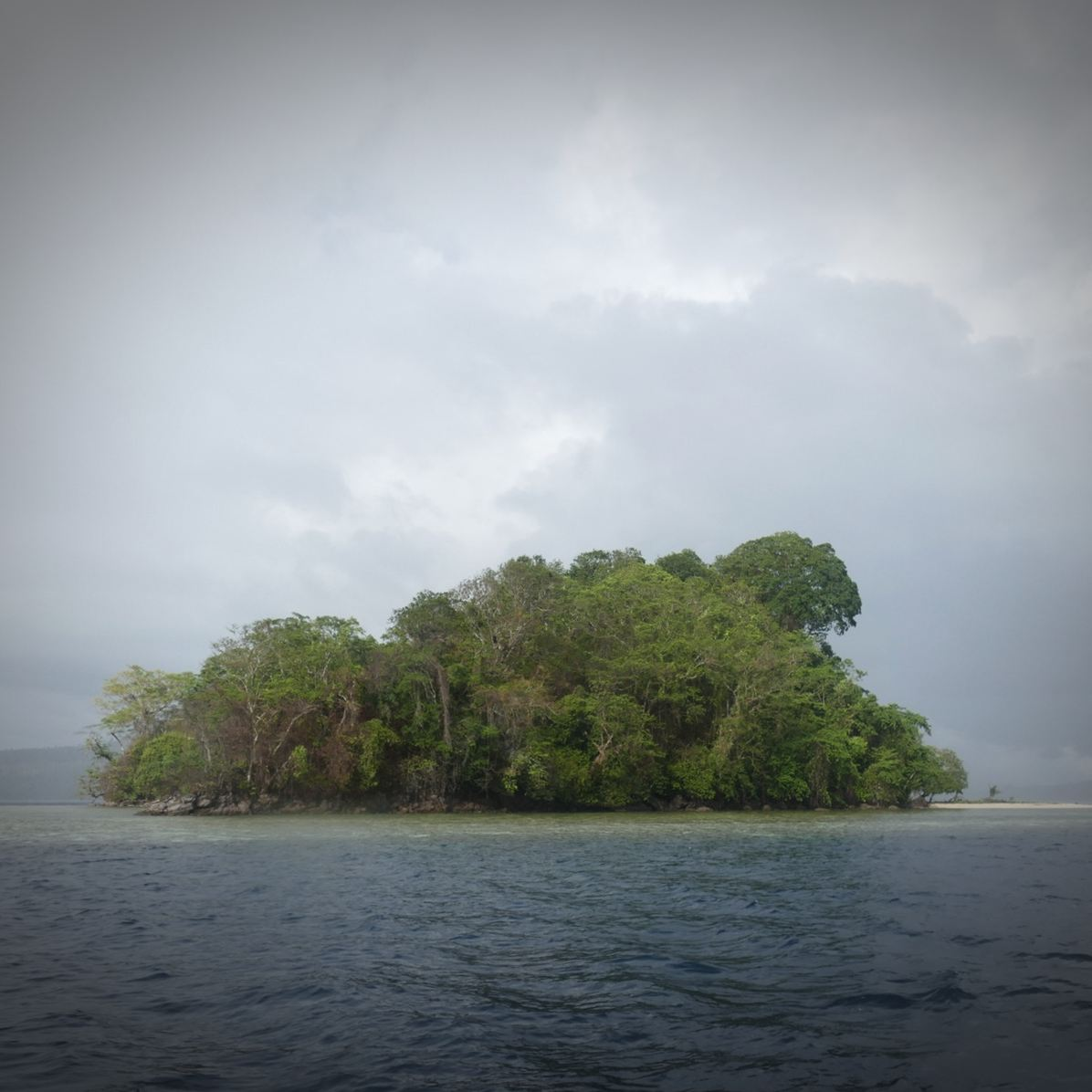 Restorf Island rises off the coast of New Britain. Noah Strycker