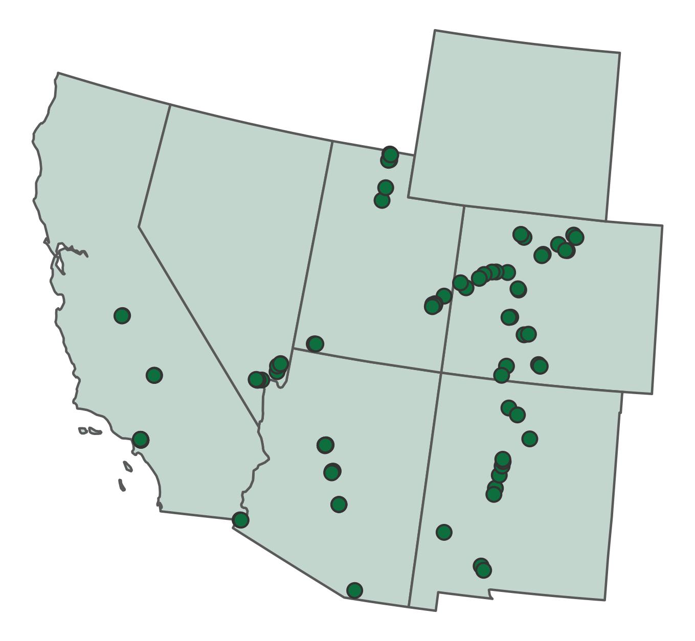 Western River Bird Count priority sites.