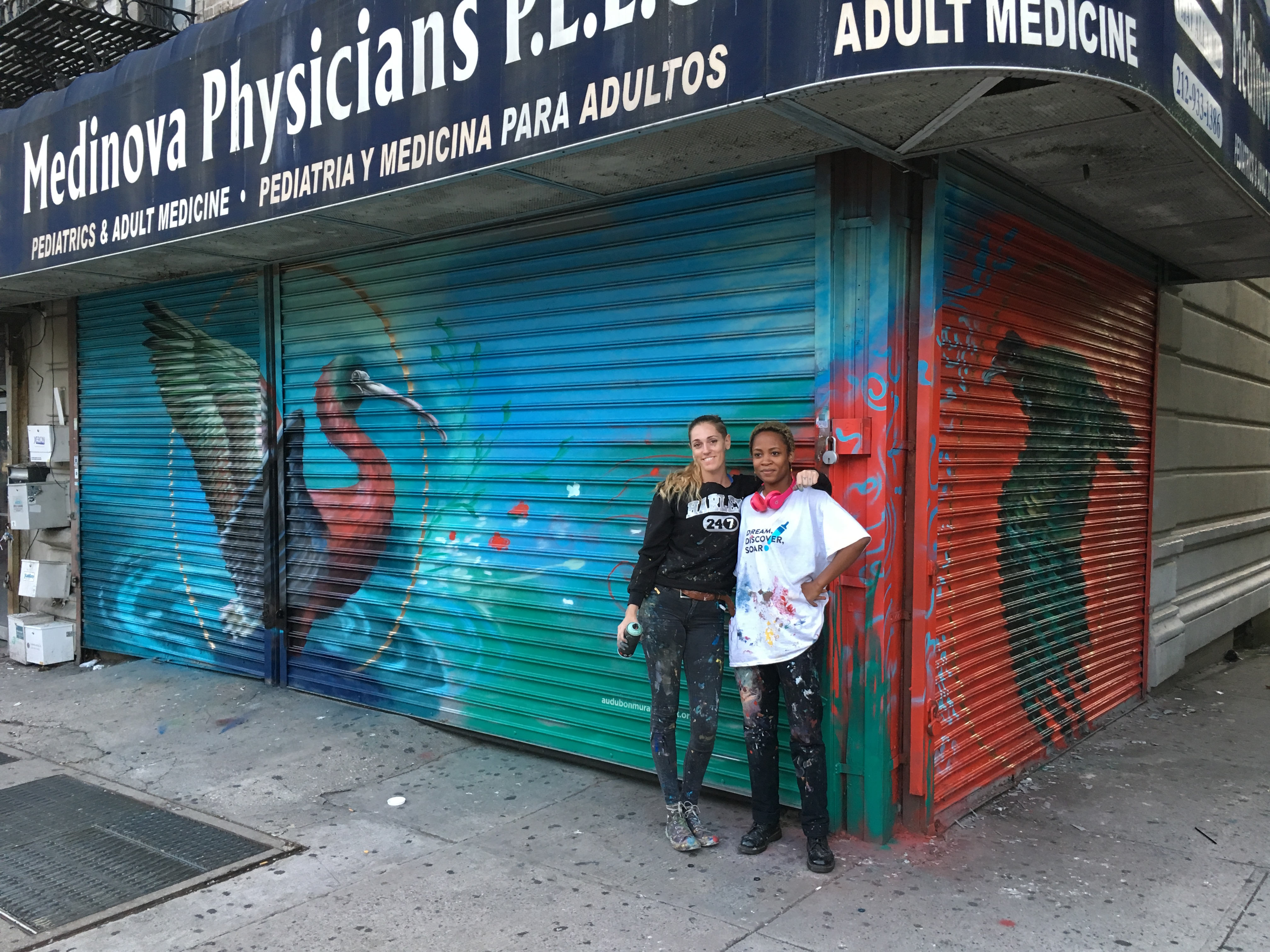Artists Kristy McCarthy and Pelumi Adegawa. Jon Heller