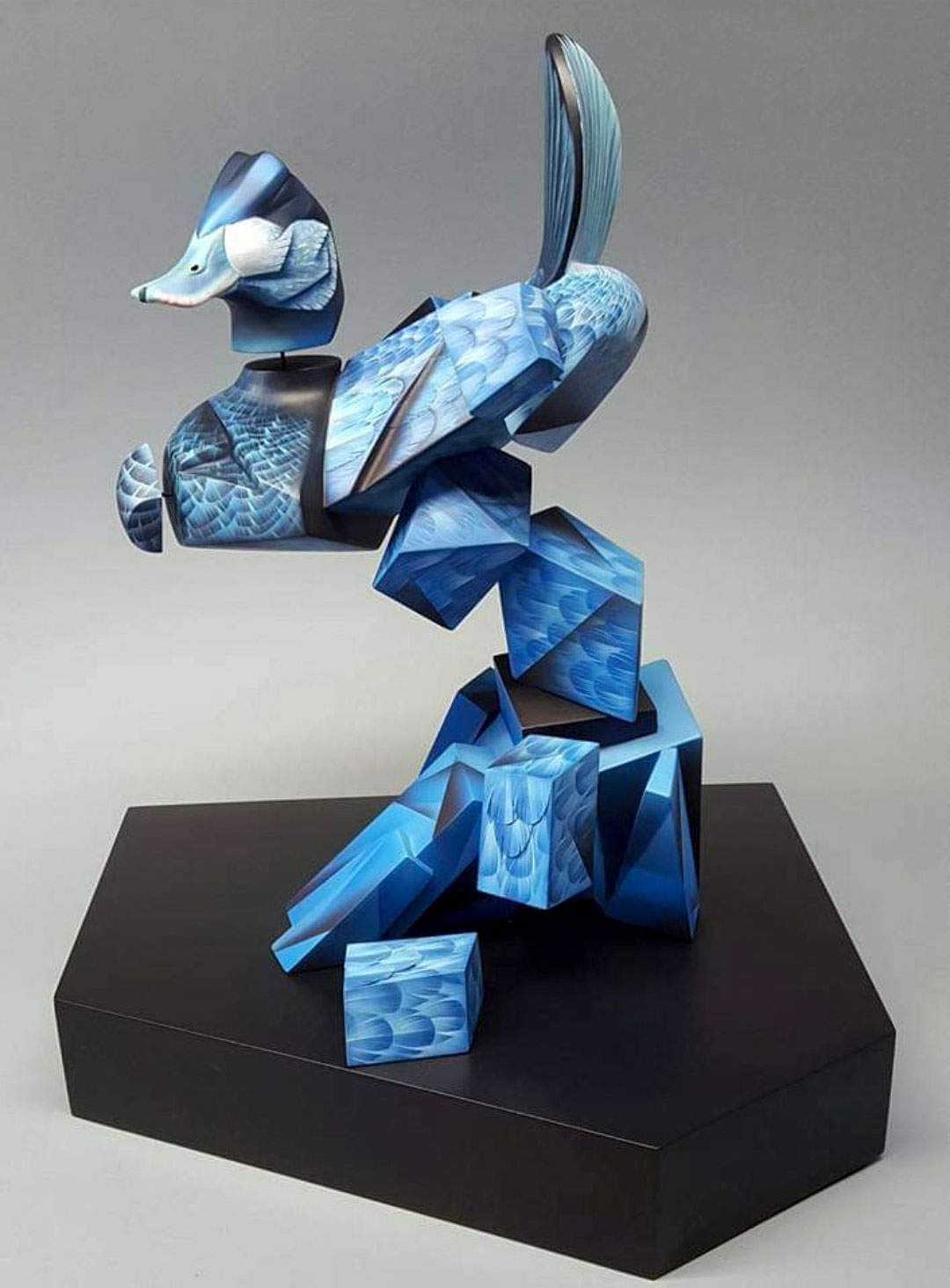"""Daniel Montano's Picasso-influenced Ruddy Duck, titled """"Azul."""" Courtesy of the artist"""