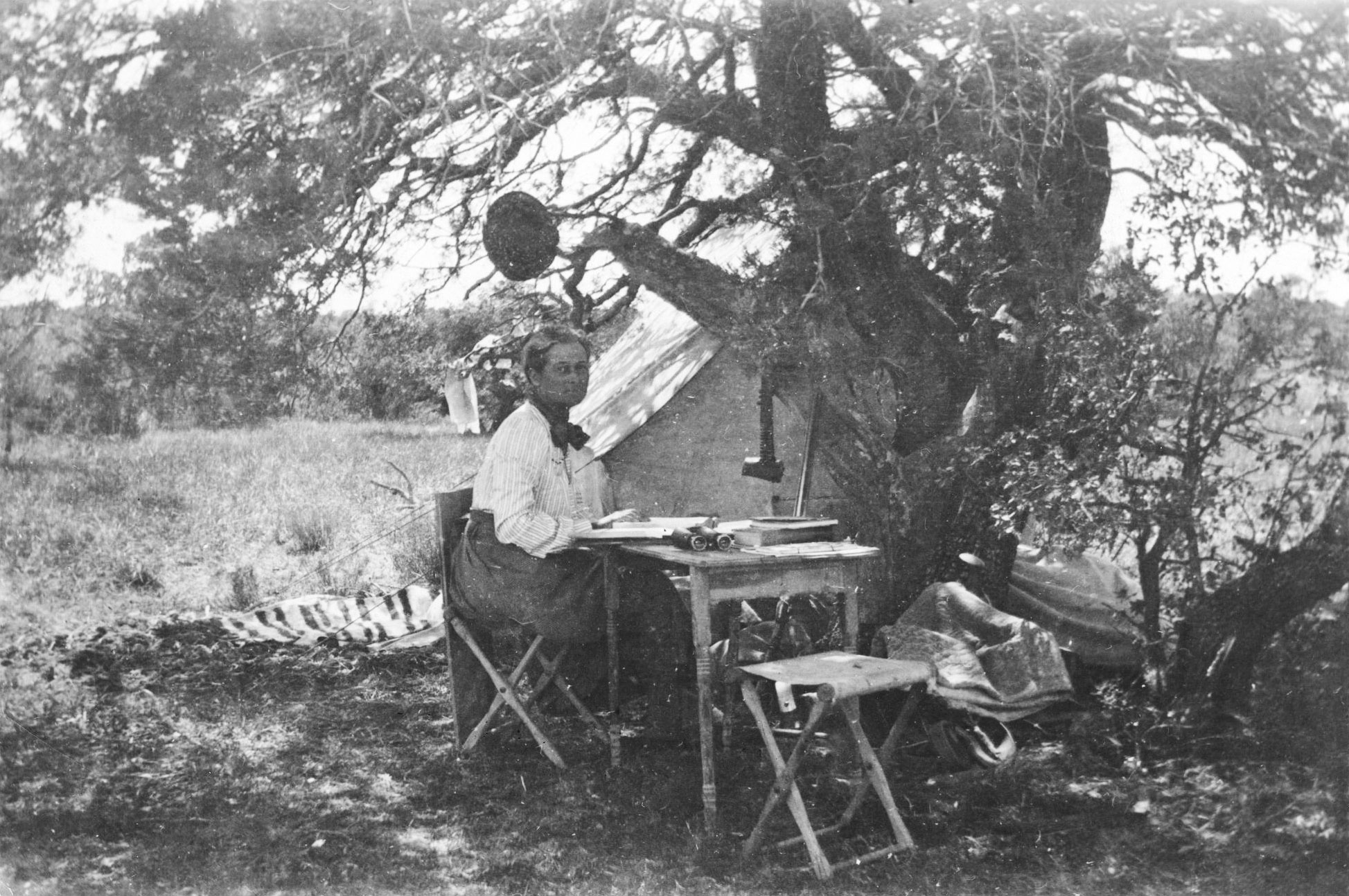 Florence Merriam Bailey, maker of the first known bird guide, in New Mexico, 1901. Vernon Bailey Collection/American Heritage Center/University of Wyoming