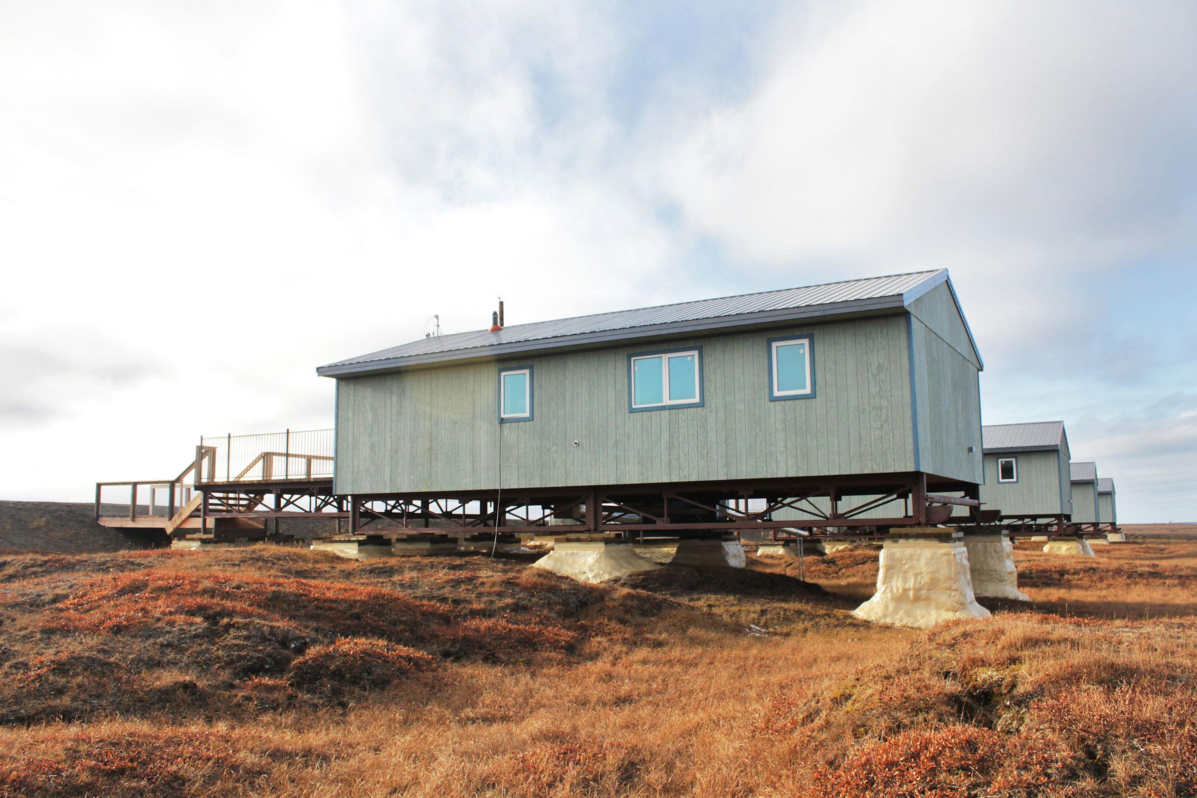 New, energy-efficient houses on the edge of Wainwright. Madeline Ostrander