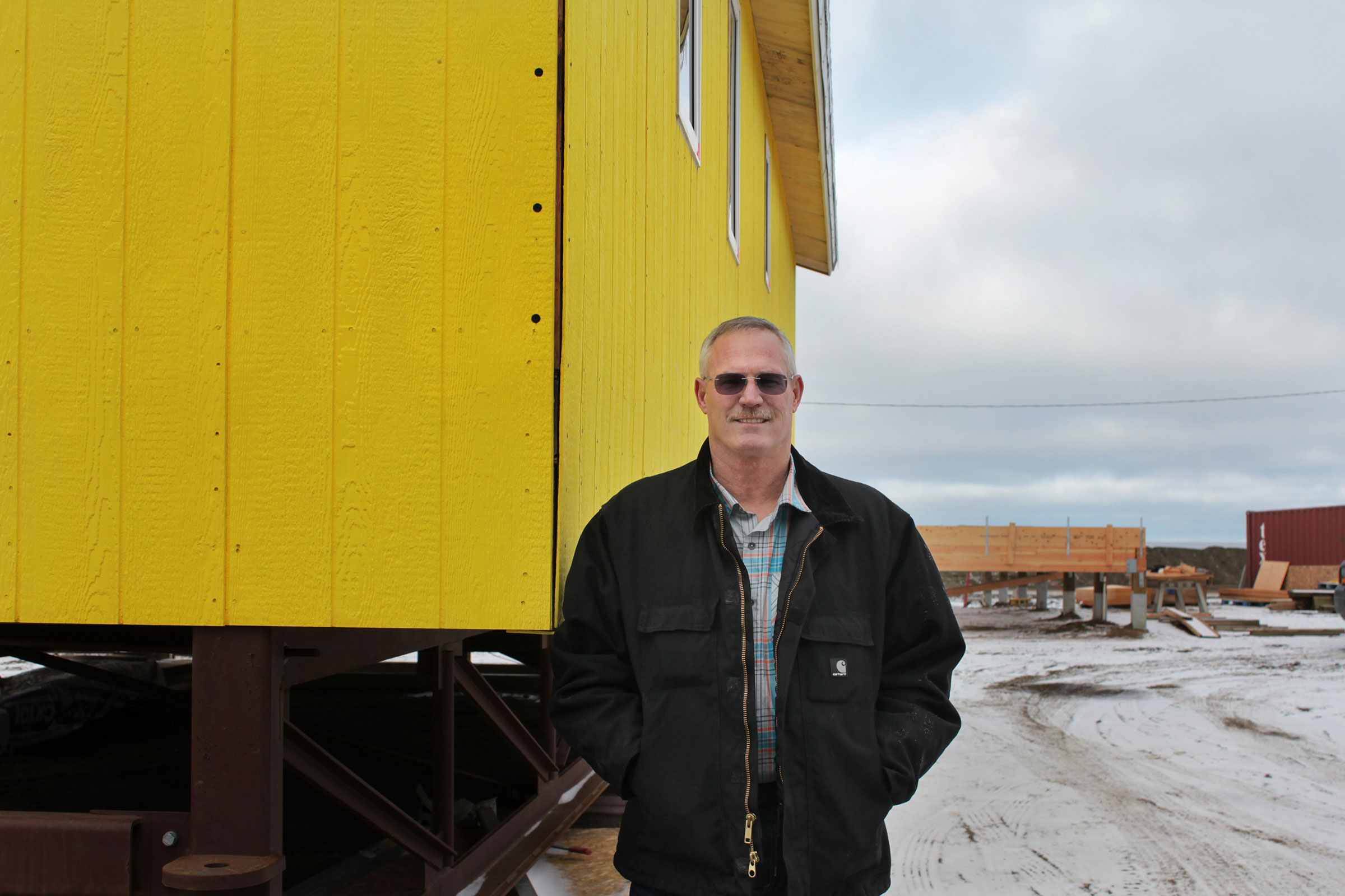 Claude Garoutte is building eco-houses on the North Slope. Madeline Ostrander
