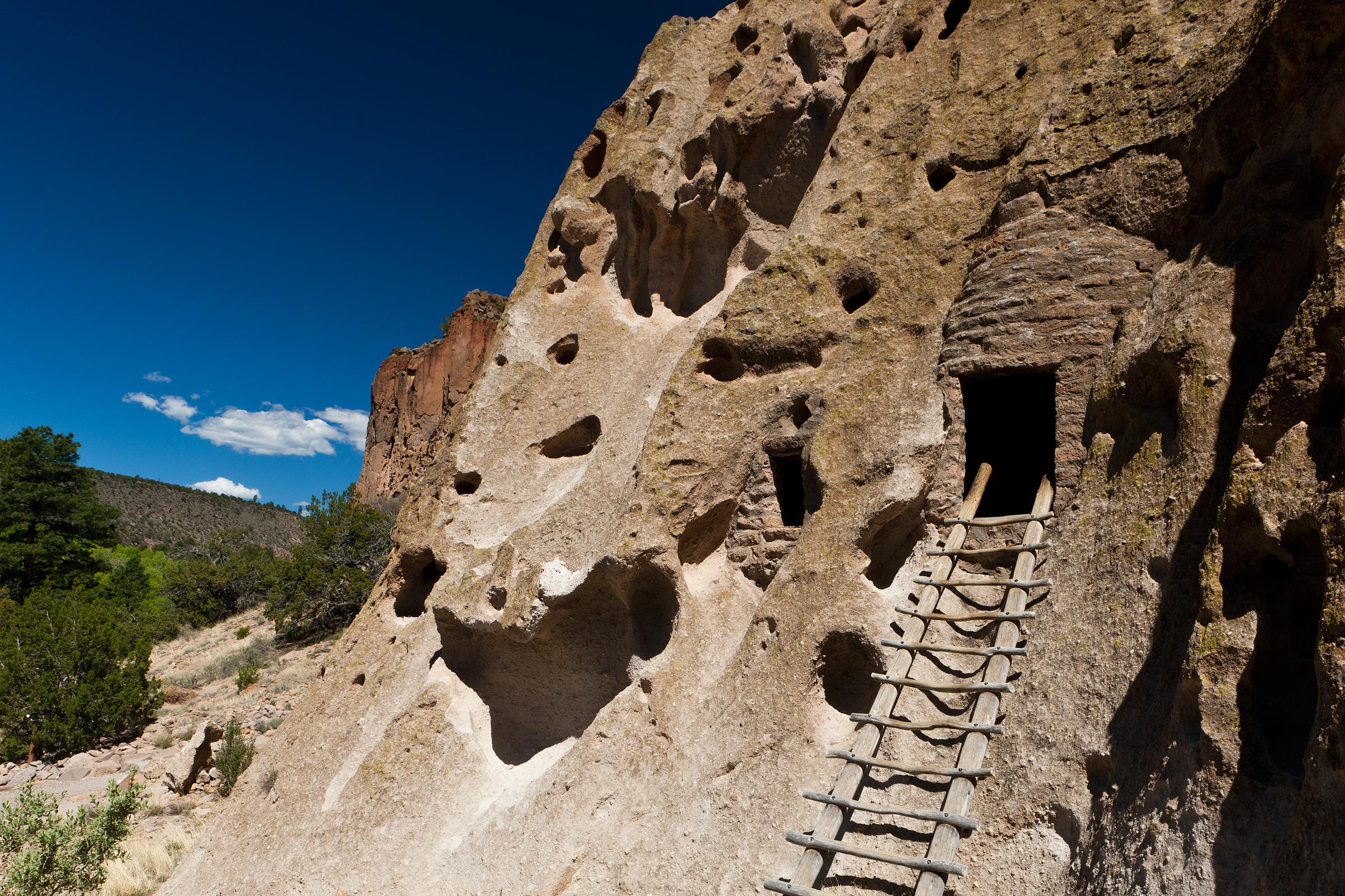 Bandelier National Monument in Los Alamos is an hour west of Santa Fe. Jennifer King