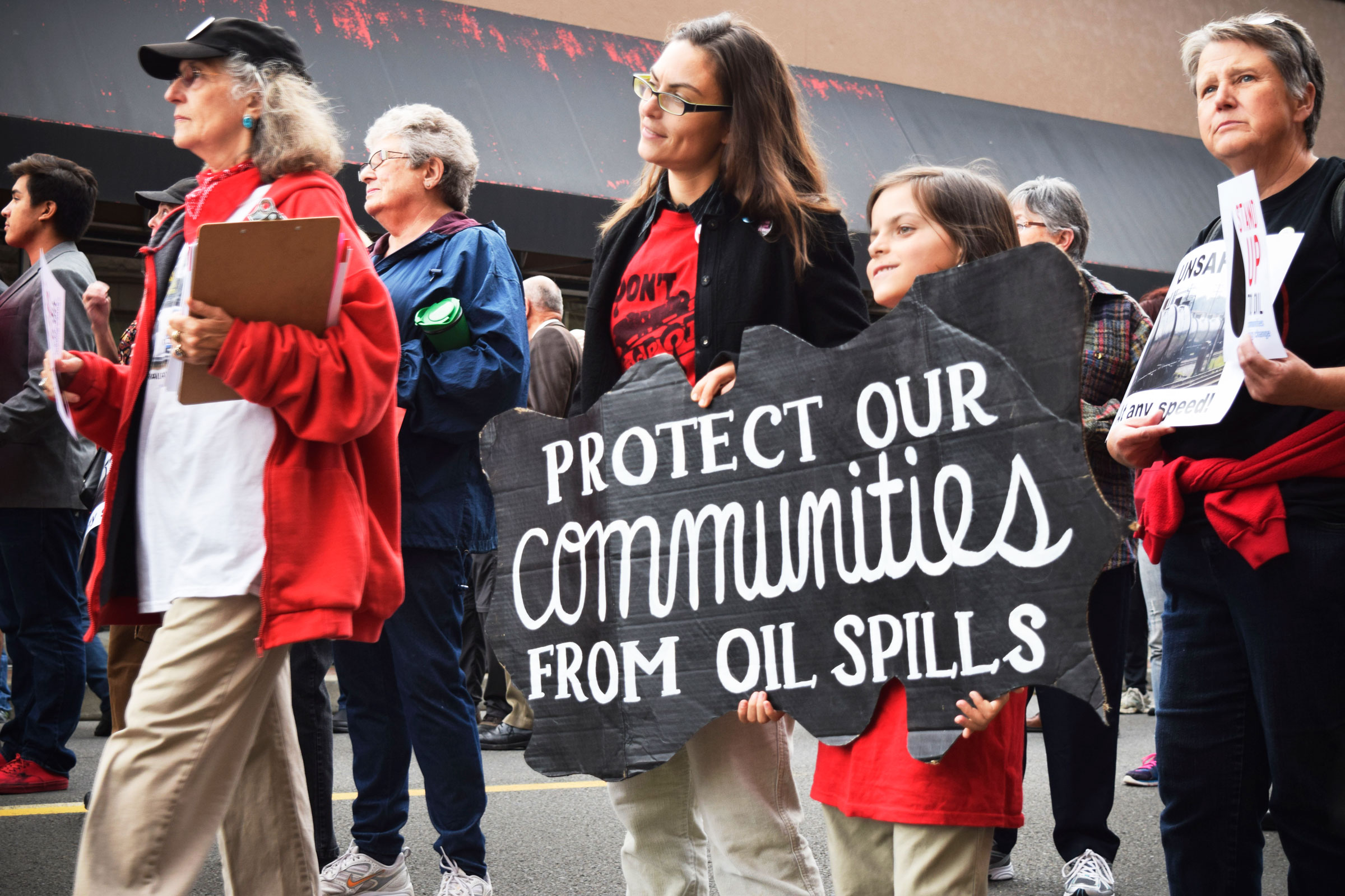 Protestors for Stand Up to Oil. Natalie Jamerson