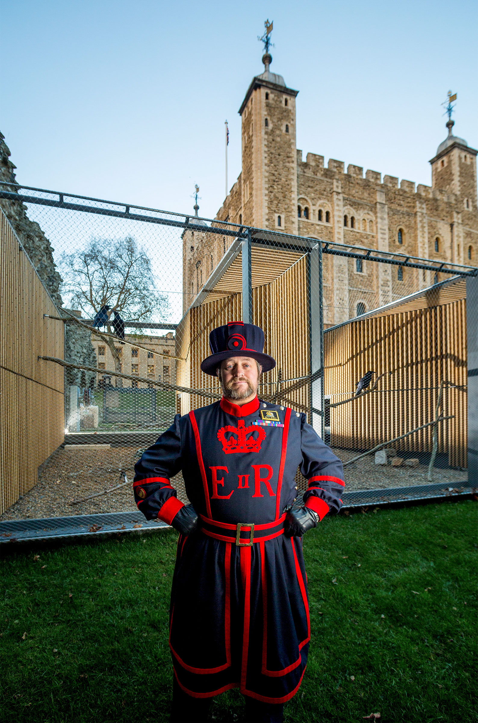 Christopher Skaife, Beefeater and Ravenmaster. Courtesy of Historical Royal Palaces Enterprises, Ltd.