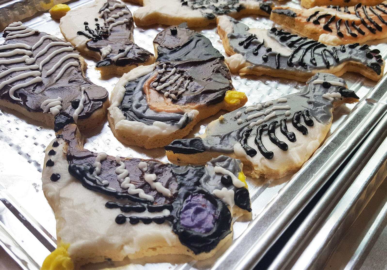 Sarah MacLean sees her custom cookies as a way to get people excited about birds. Sarah MacLean