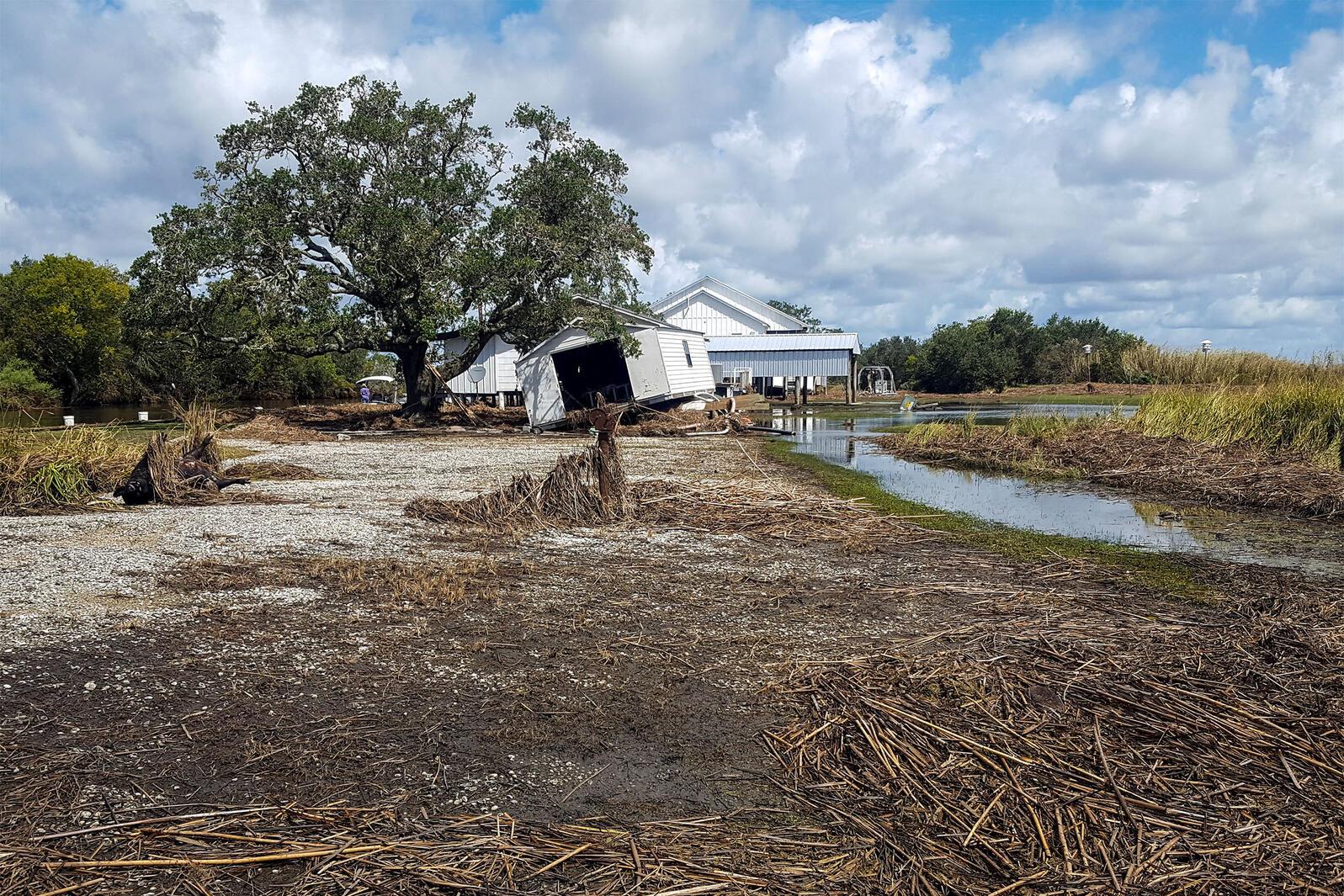 Damage at Rainey Wildlife Sanctuary. Erik Johnson/Audubon