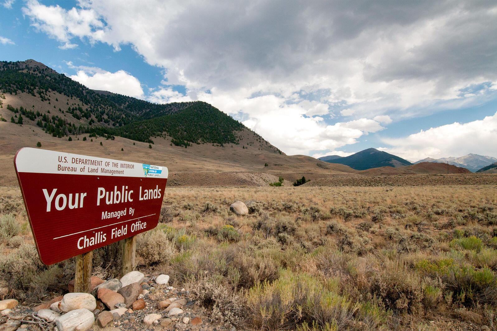 Bureau of Land Management public lands sign in Idaho. William Mullins/Alamy