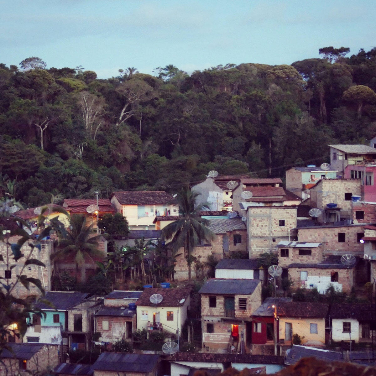 A view of one of the neighborhoods of Itacare, Brazil. Noah Strycker