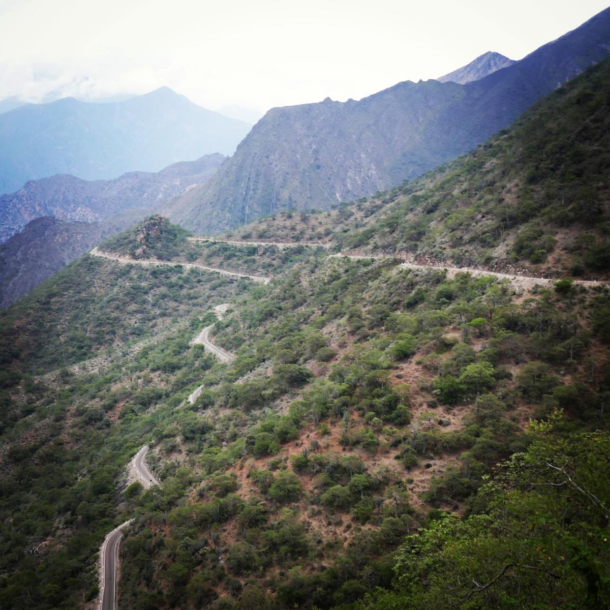 A view of the lower, drier parts of the Maranon Valley in northern Peru. Noah Strycker