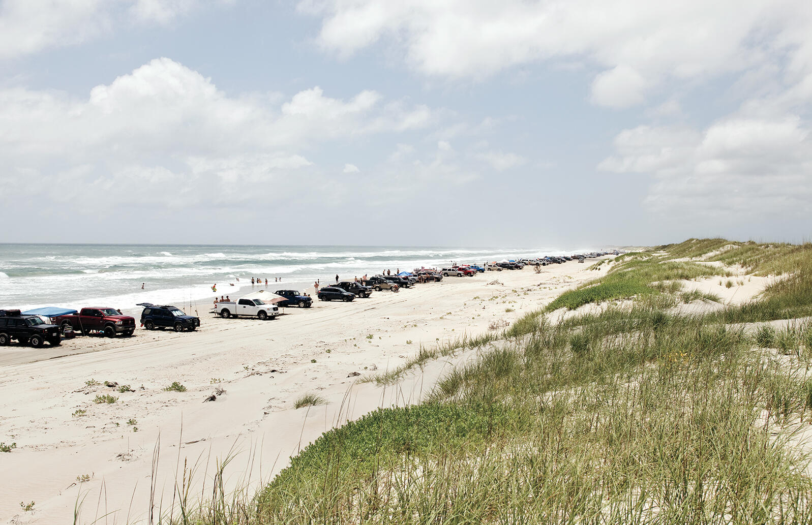 A June court ruling has upheld a law restricting ORV access to Cape Hatteras National Seashore.  Credit: Emiliano Granado