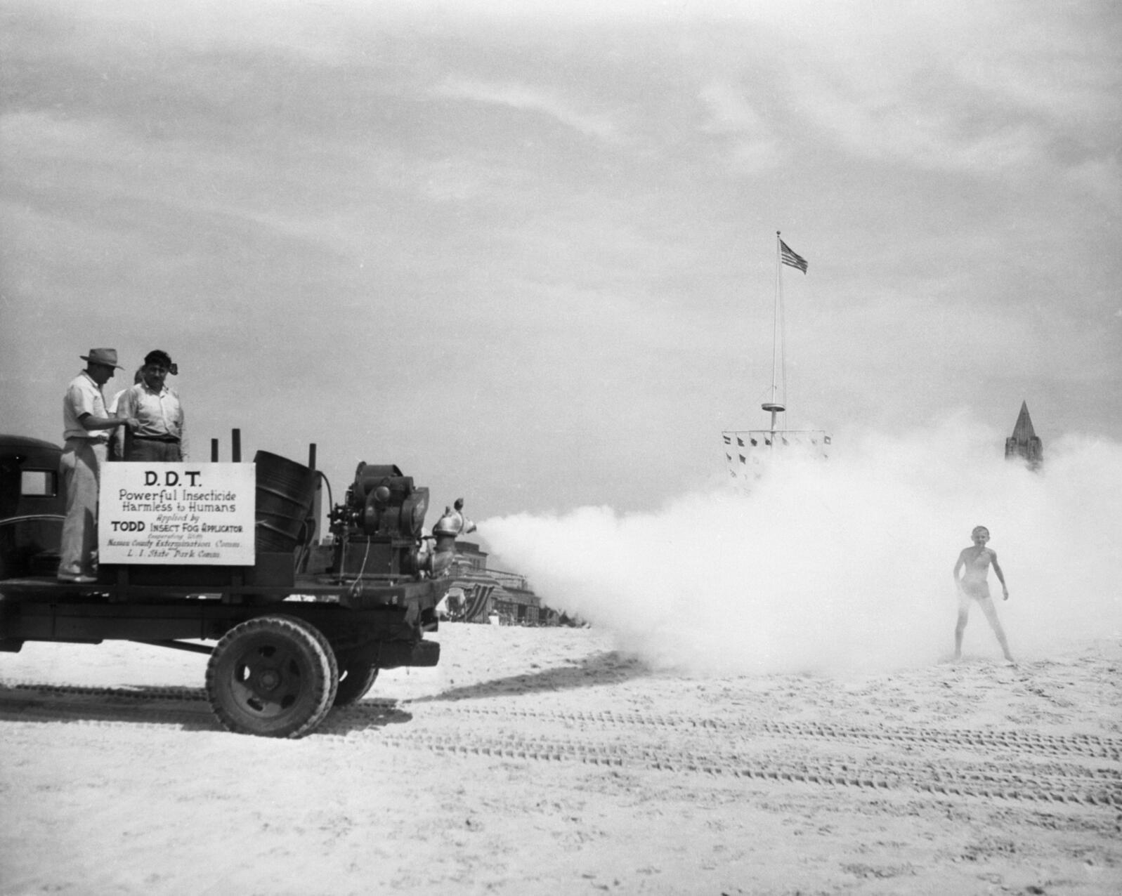 Mosquito control, Jones Beach State Park, Long Island, 1945 Bettmann/Corbis