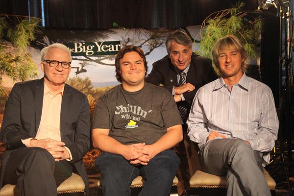 Audubon President David Yarnold with stars of The Big Year Brenda Timm