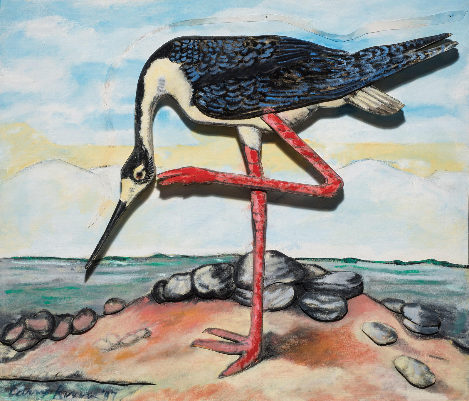 Black-necked Stilt. Painting: Courtesy of the Larry Rivers Foundation and gallery