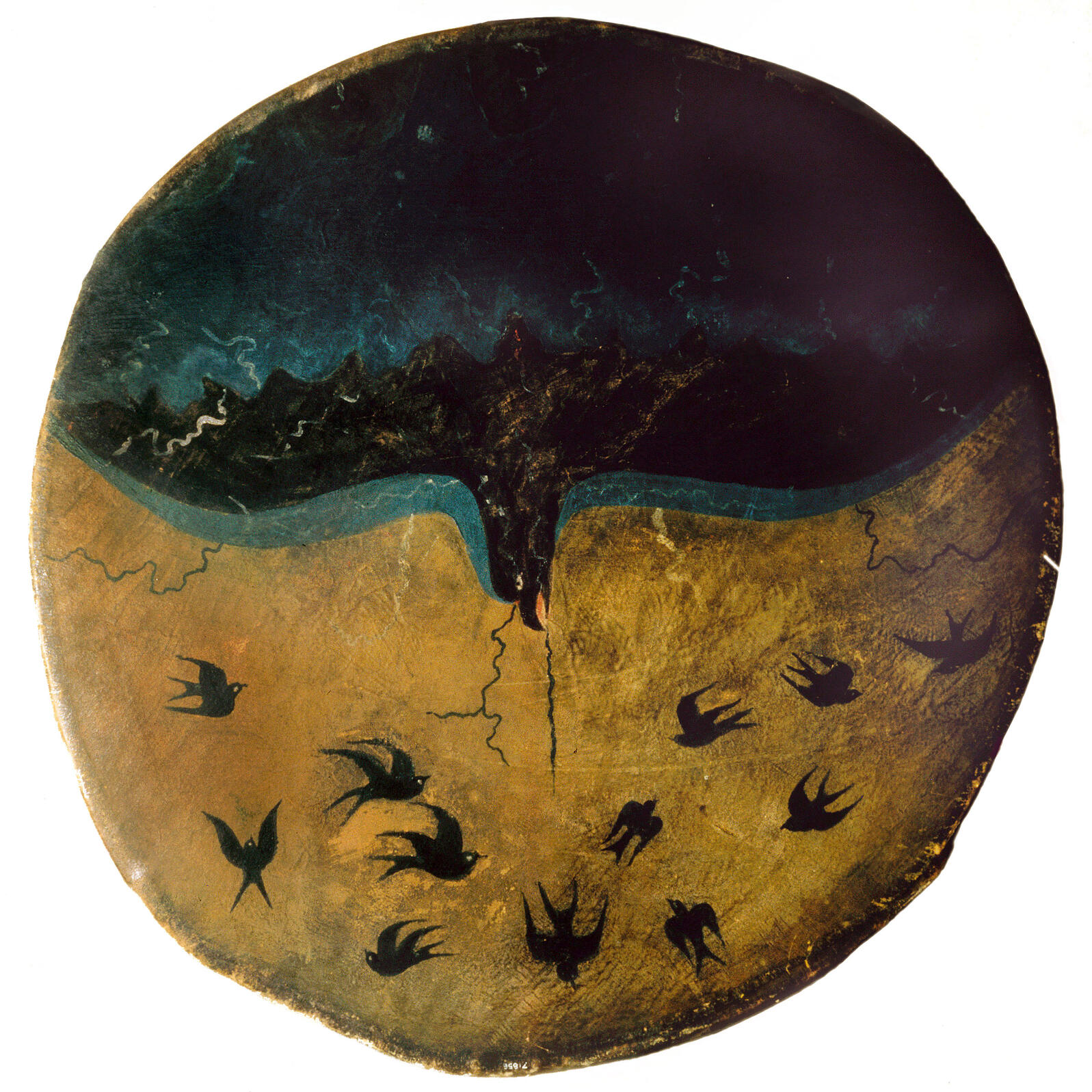 Depiction of Thunderbird painted on a drum by a Pawnee artist in the late 19th century. Heritage Image Partnership Ltd/Alamy