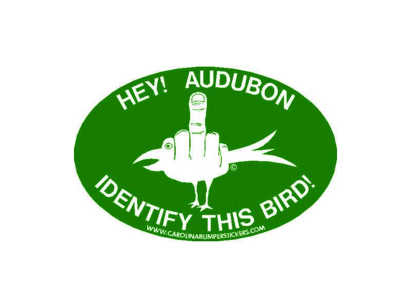 An anti-Audubon decal created by Carolina Bumper Stickers.