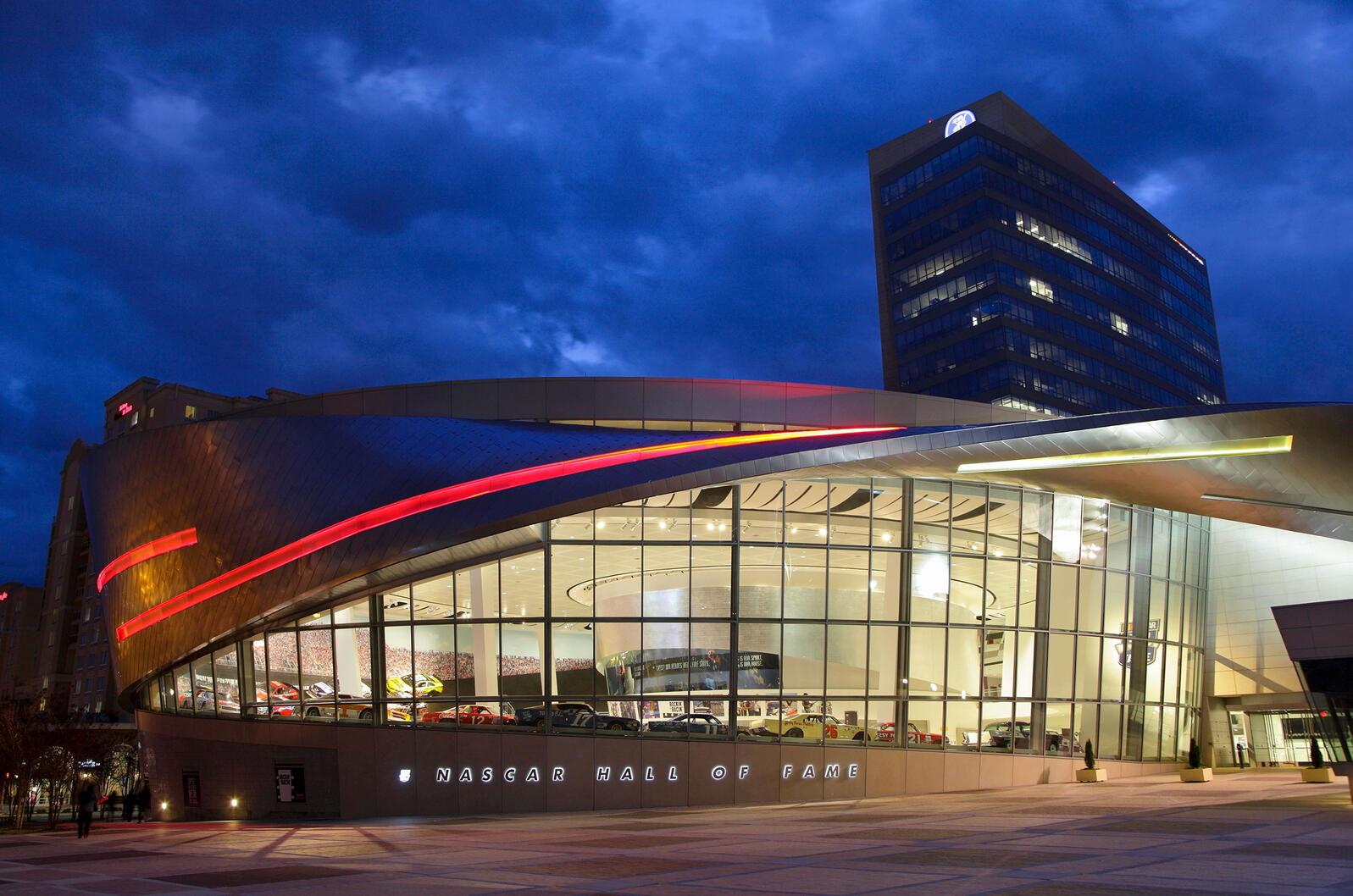 NASCAR Hall of Fame, Charlotte, North Carolina. W. G. Murray/Alamy