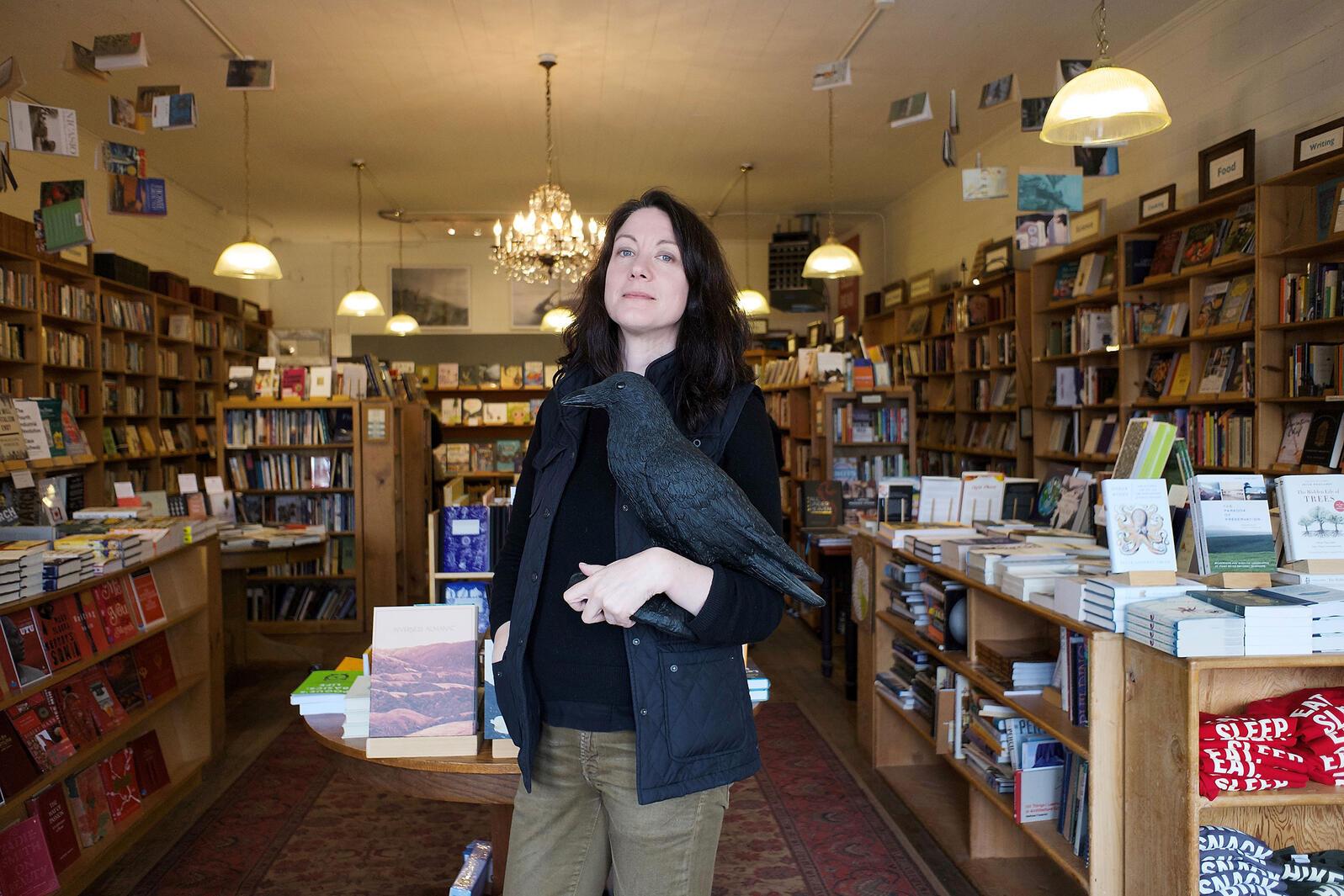 Author Helen Macdonald. Bill Johnston Jr.