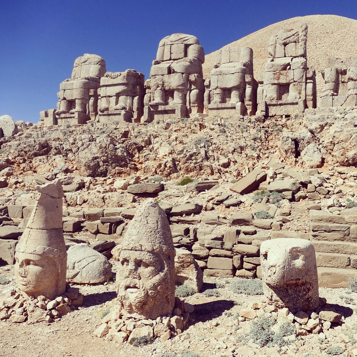 These stone sculptures atop Mount Nemrut are more than 2,000 years old. Noah Strycker