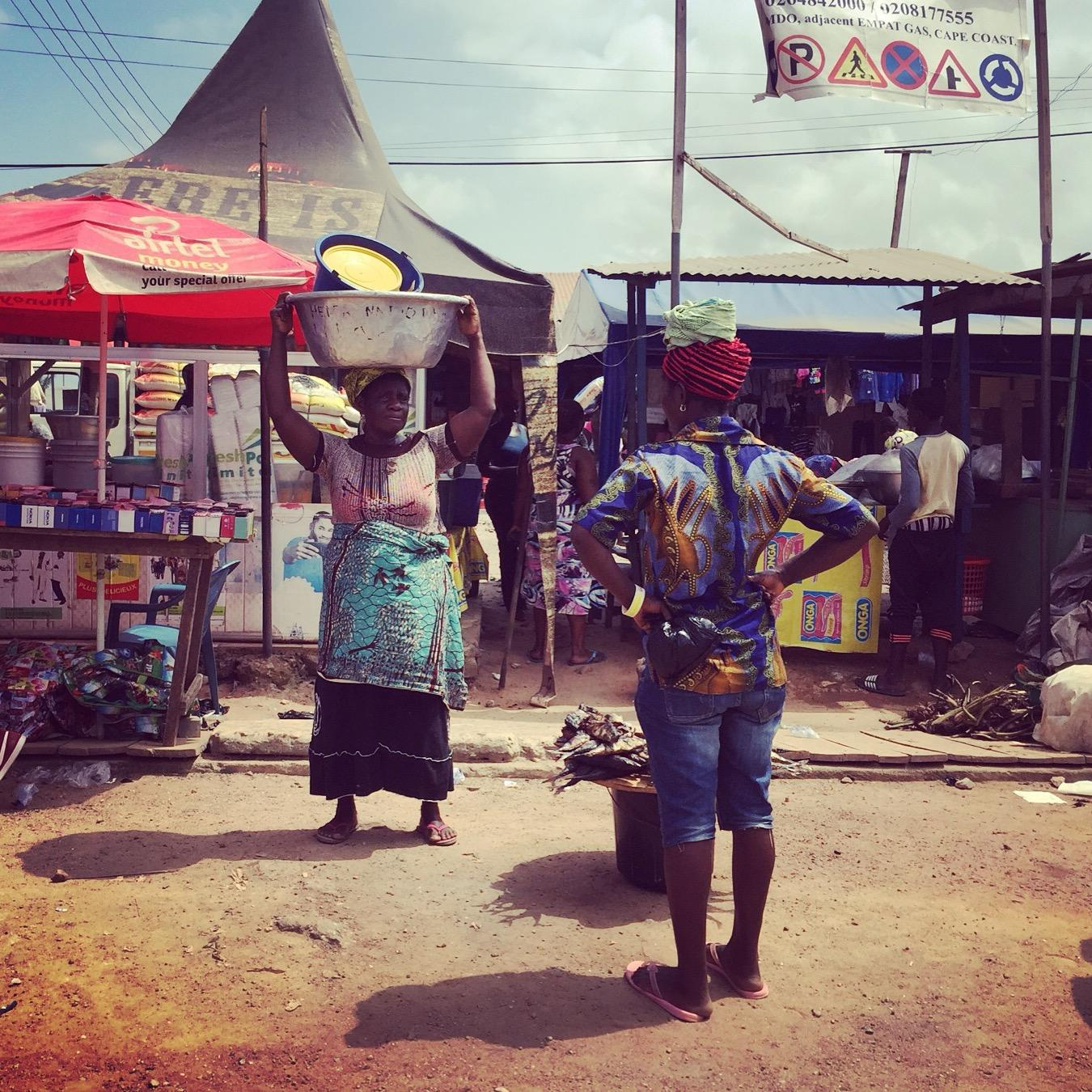 A typical, colorful street scene in Cape Coast. Noah Strycker