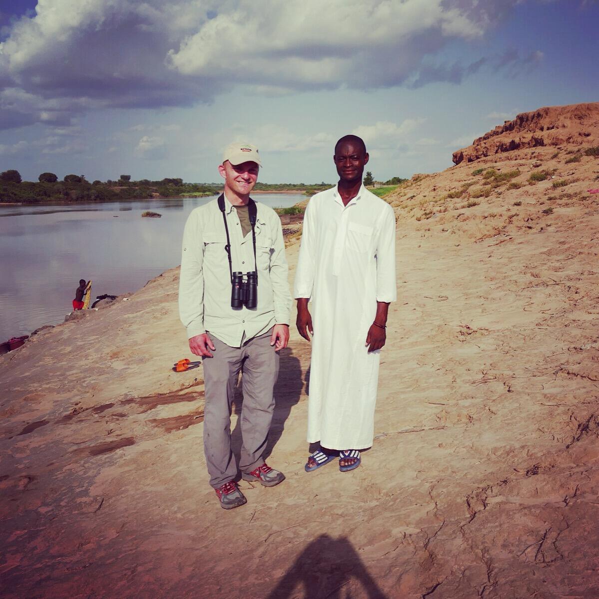 Noah with a friend in northern Ghana. Noah Strycker