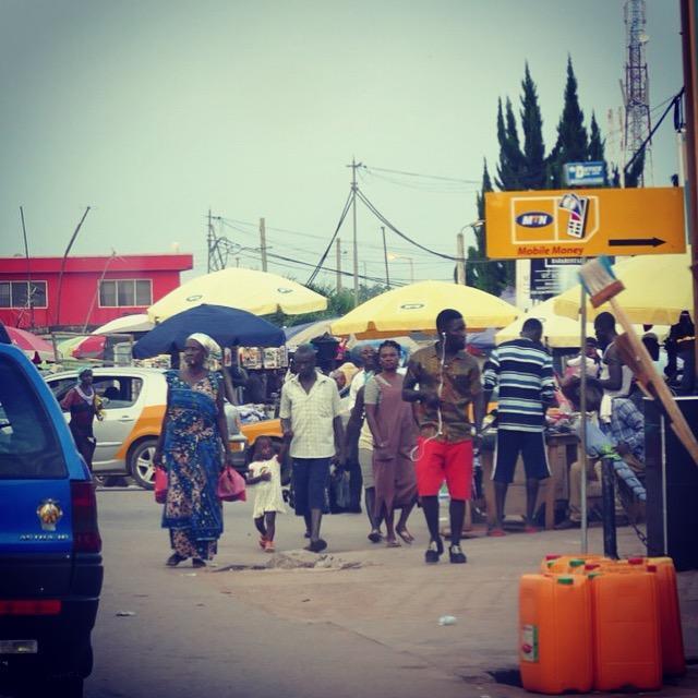 A typical street scene in Ghana traffic. Noah Strycker