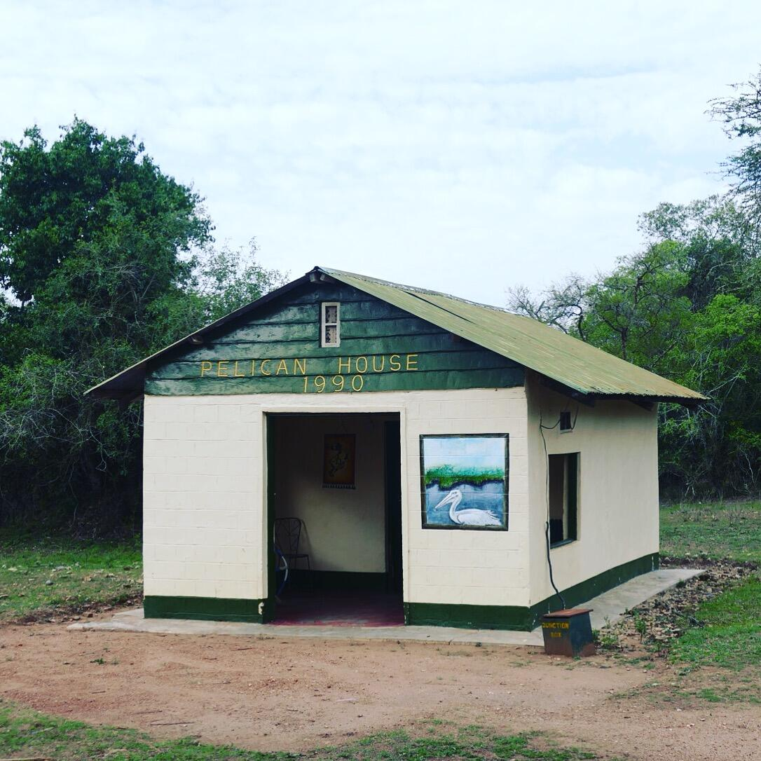 """Pelican House, the """"banda"""" where Noah will spend his last two nights in Africa. Noah Strycker"""