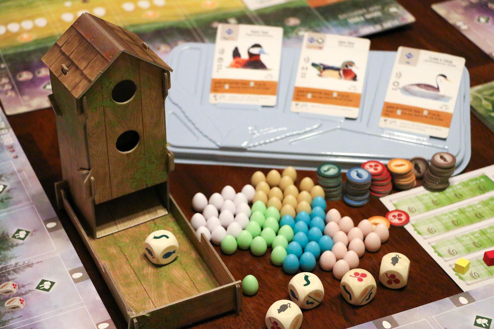 "Real bird behaviors are central to player strategy in ""Wingspan,"" designer Elizabeth Hargrave's debut game. Kim Euker"